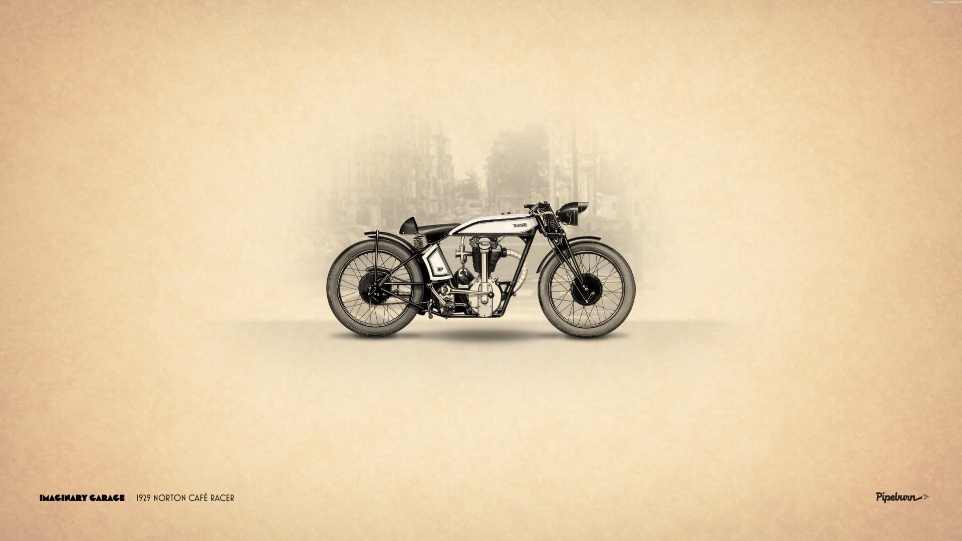 1929 Norton Cafe Racer Motorcycle wallpaper     103973    WallpaperUP