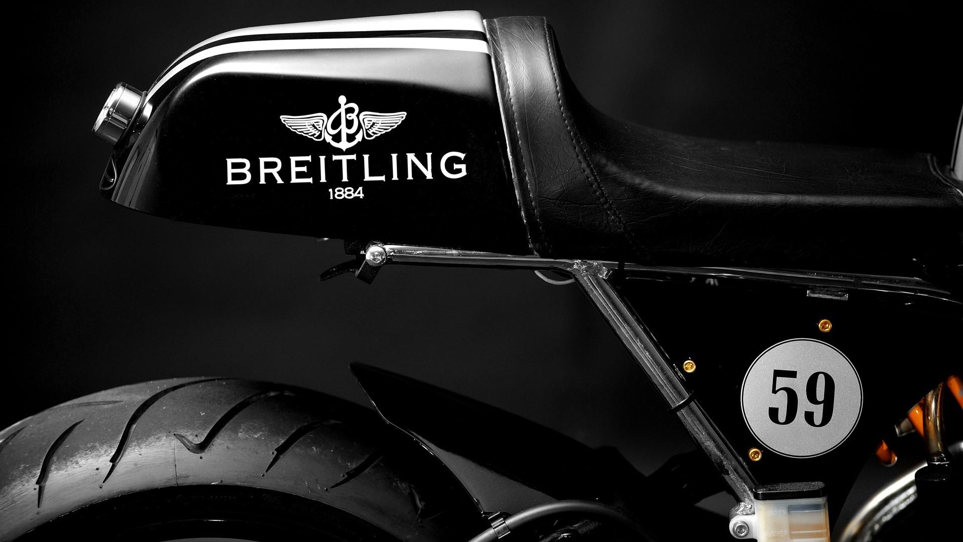 Black Breitling motorbikes motorcycles cafe racer wallpaper      206364   WallpaperUP