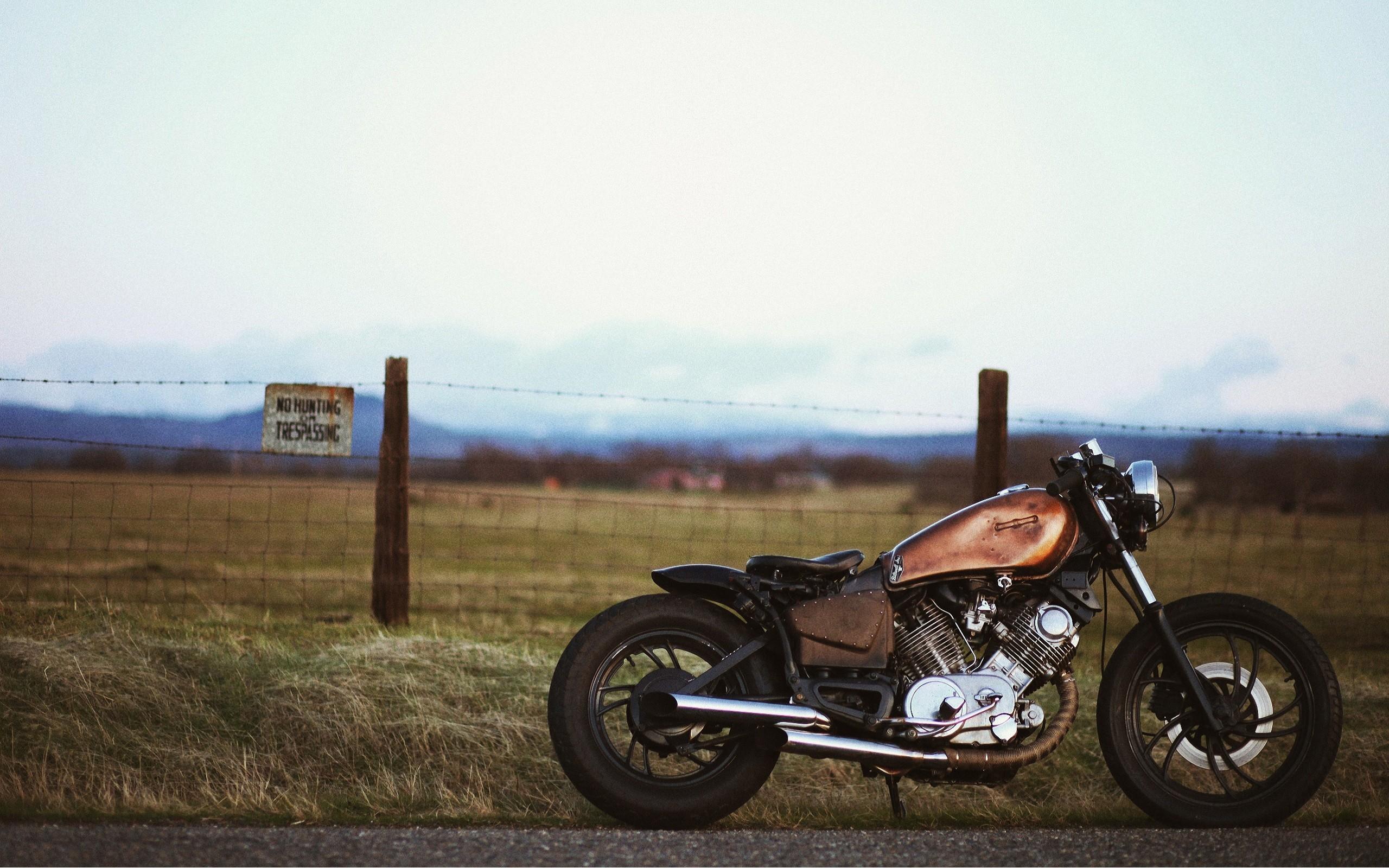 Bobber Landscapes Motorbikes Roads Side View Vehicles Virago Yamaha