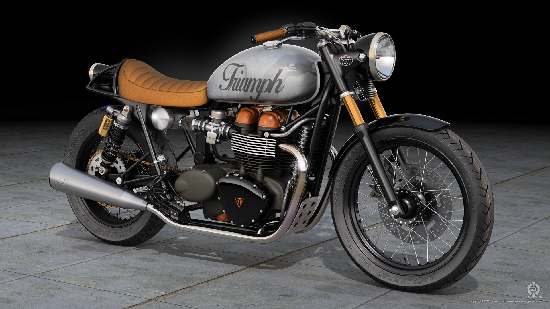Triumph Bonneville Cafe Racer by dangeruss
