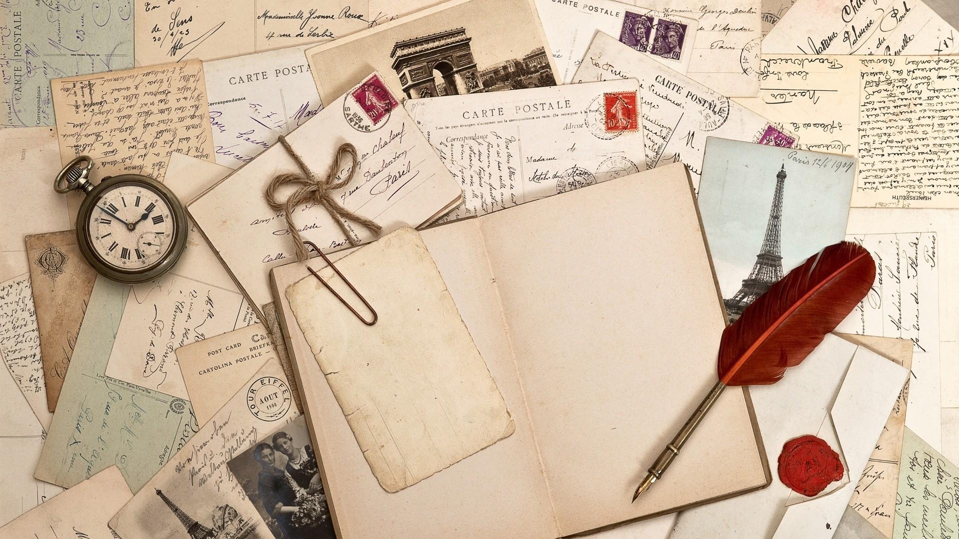 Preview wallpaper notebook, write, watch, pen 1920×1080