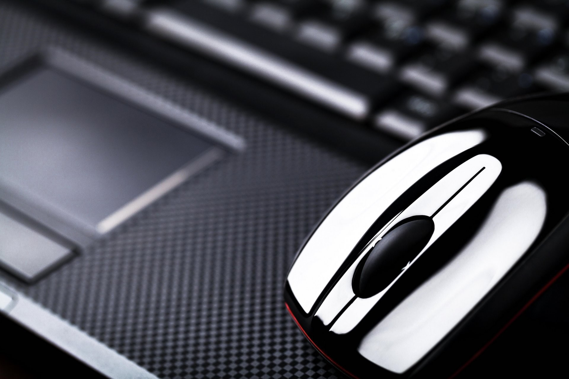 hi-tech technology computer mouse mouse notebook laptop notebook touchpad  touchpad blur bokeh close up