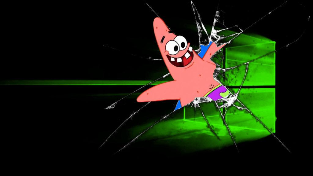 Interrupting Patrick Star Wallpaper