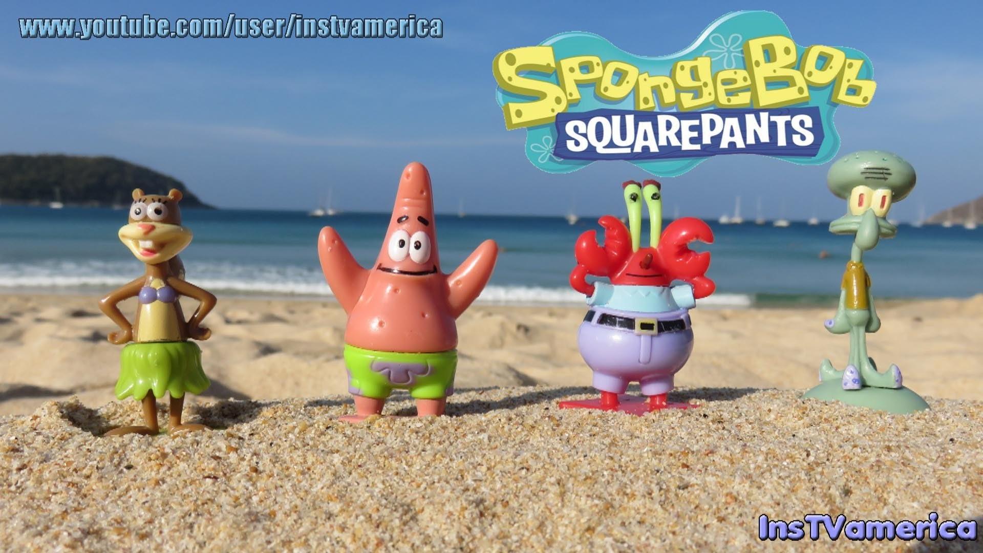 SpongeBob SquarePants friends Mr Krabs Squidward Patrick Star Sandy Mini  Figure Toys – YouTube