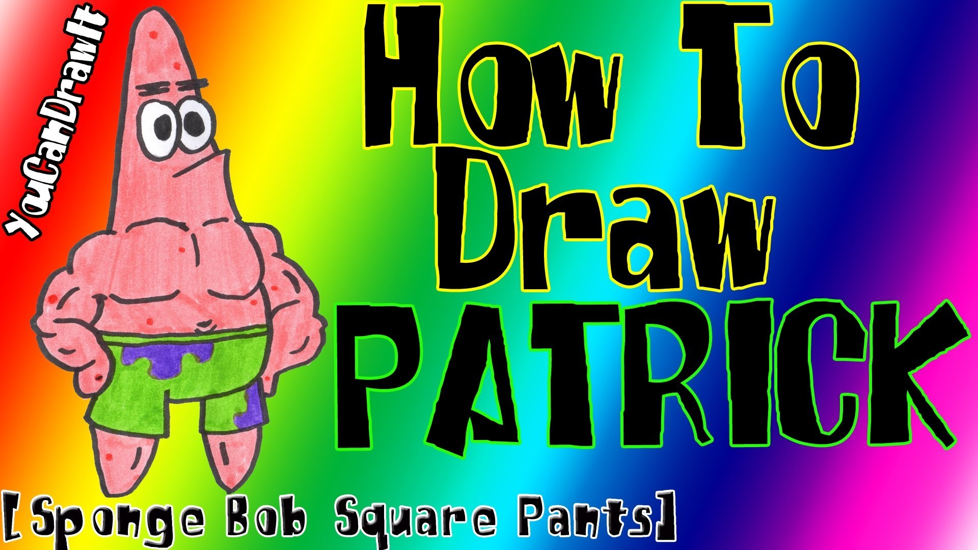 How To Draw Patrick Star from Sponge Bob Square Pants ✎ YouCanDrawIt ツ  1080p HD