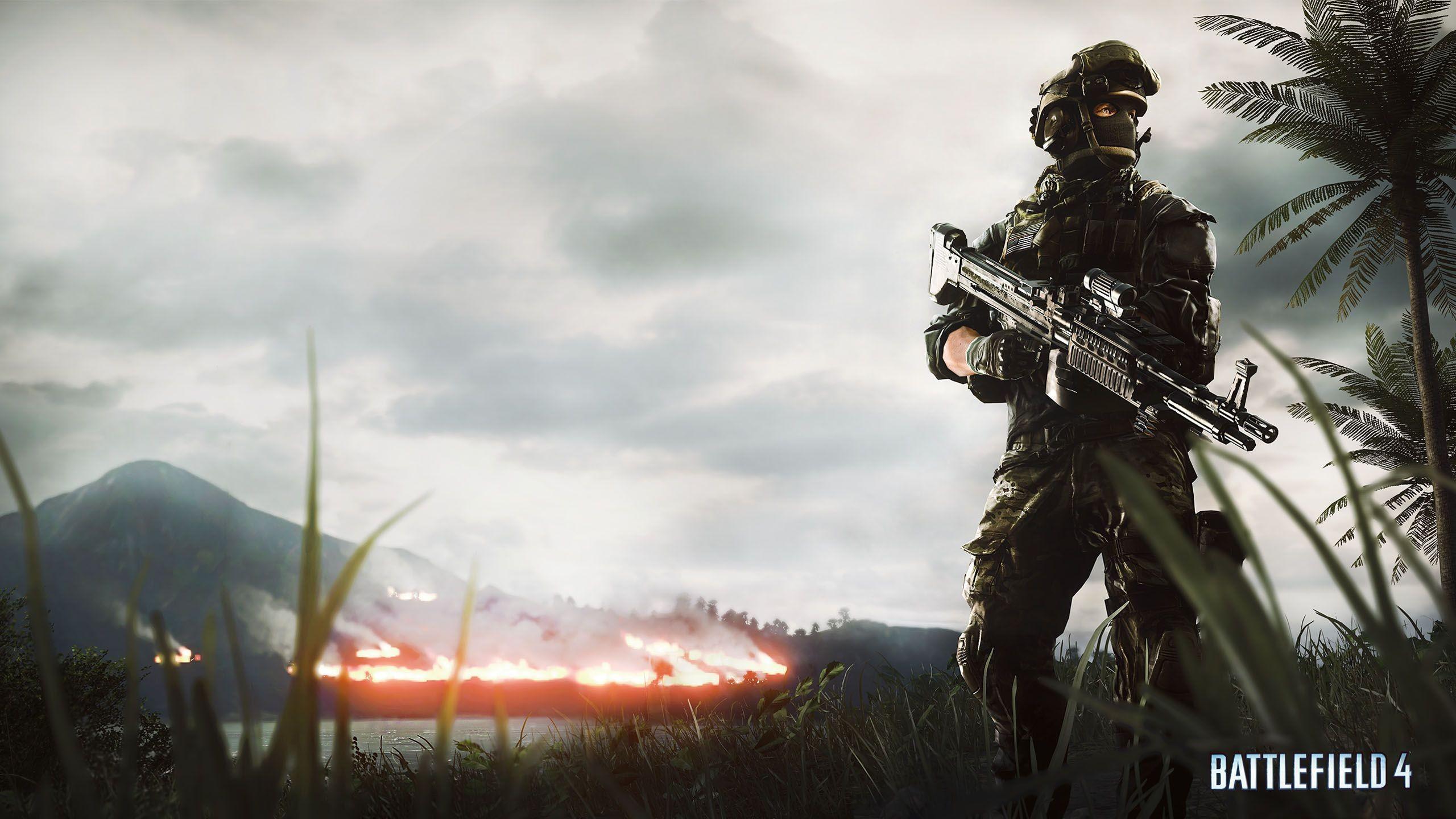 Battlefield 4, Support Soldier – – WHQD 16/9 (Wide Quad .