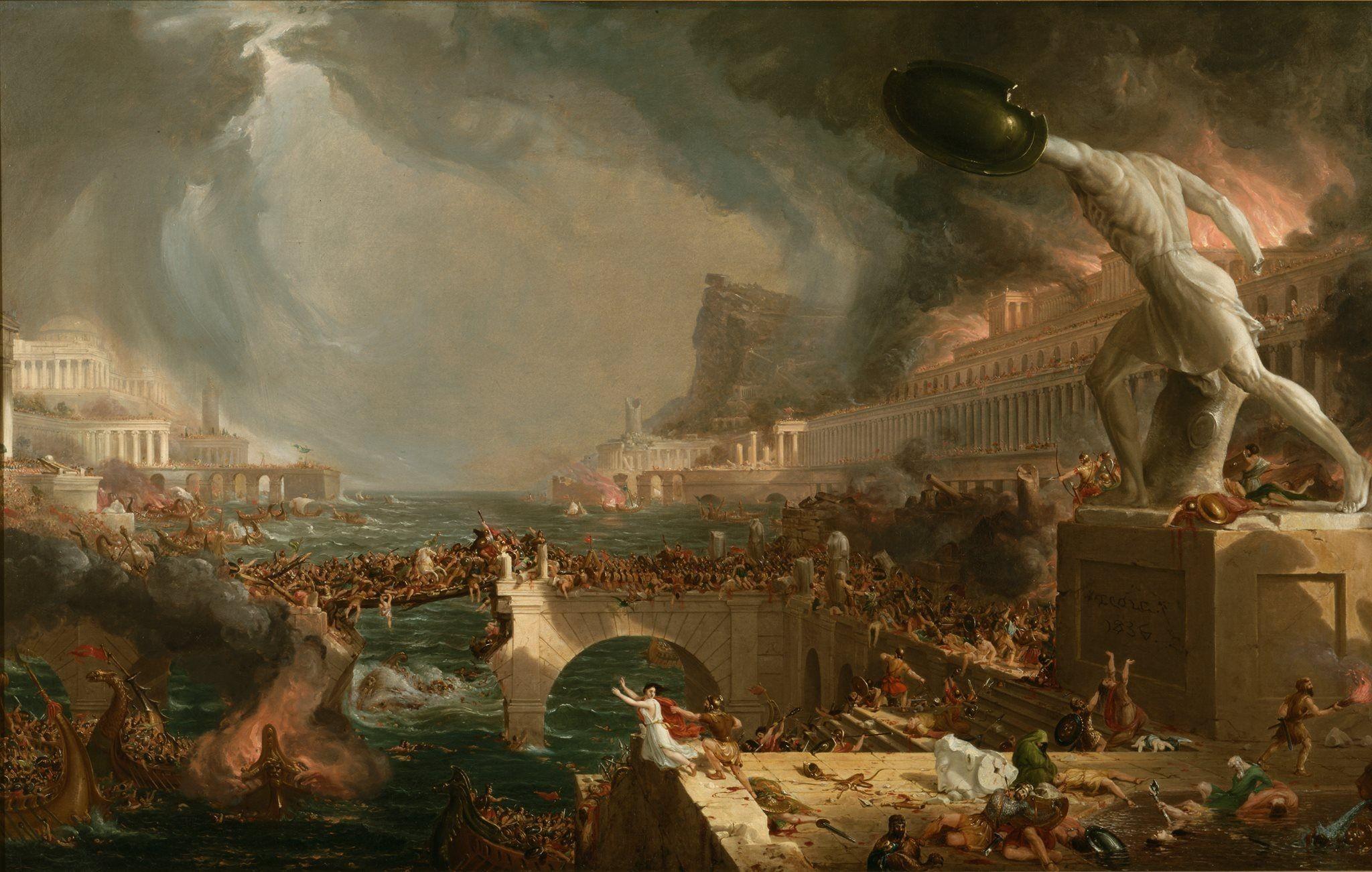 Painting Roman battle fantasy war apocalyptic wallpaper .