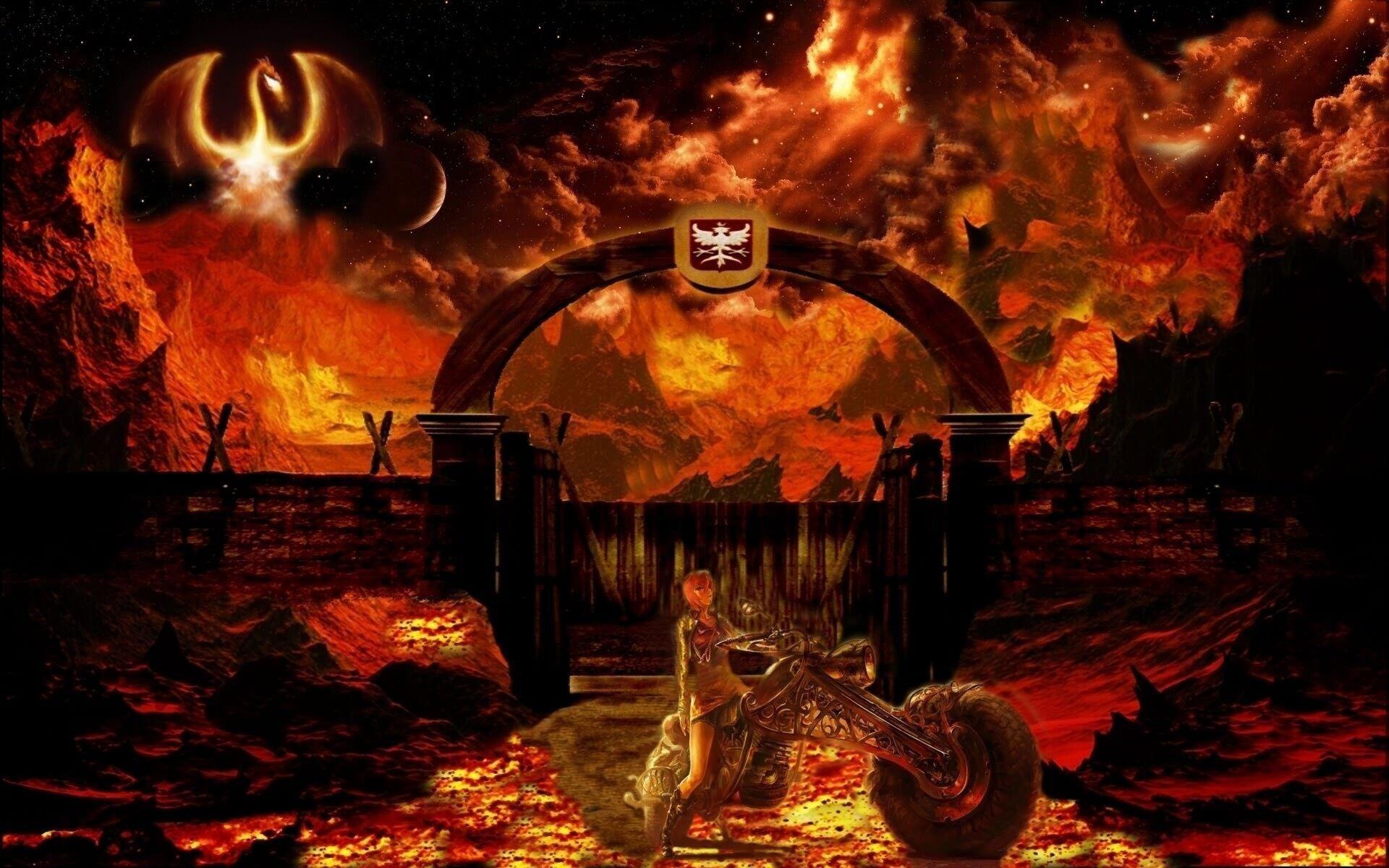 Heaven and Hell Fantasy Wallpaper HD Download Desktop