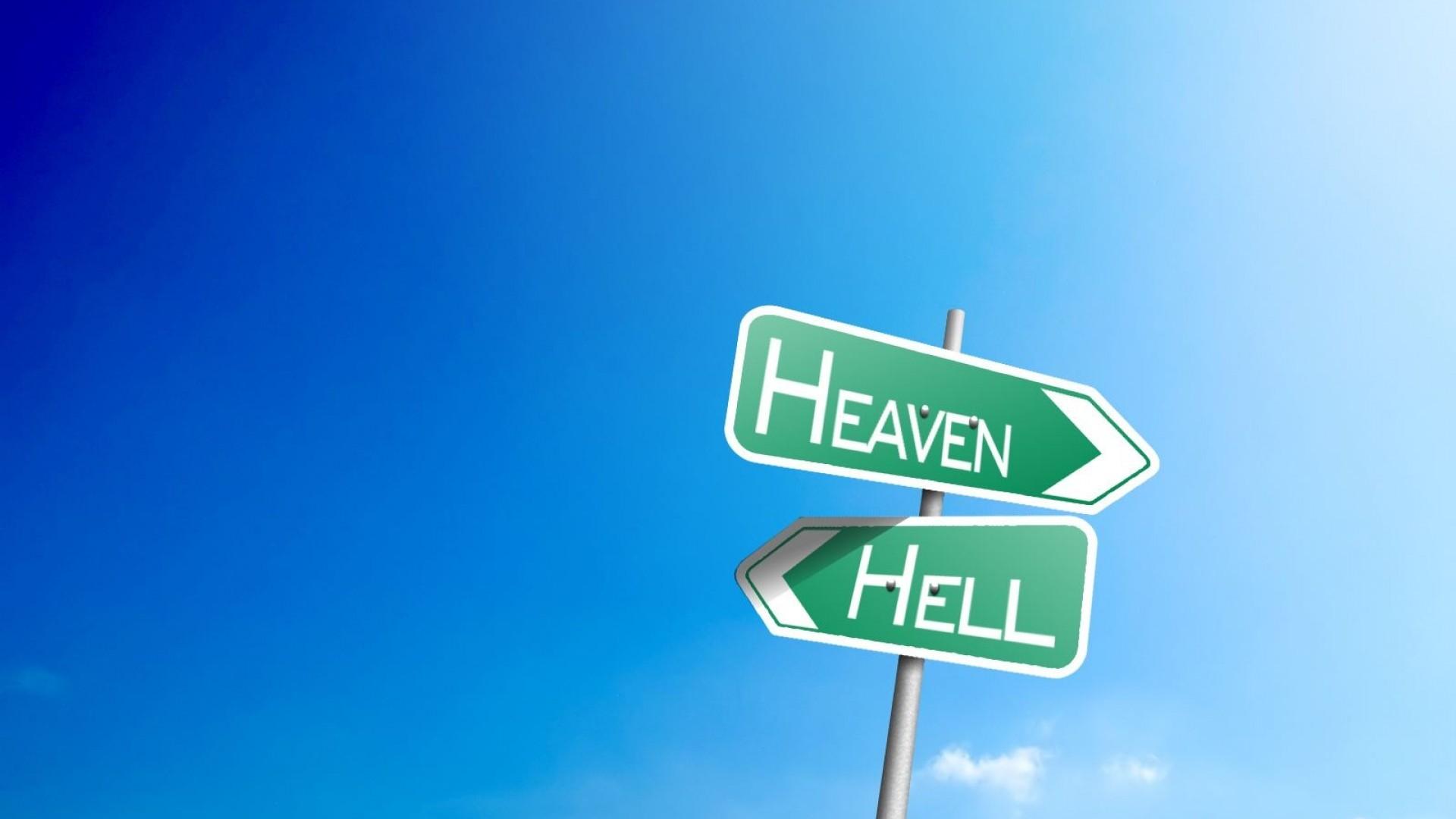 Hell Heaven inspirational sign road sign wallpaper     213412    WallpaperUP