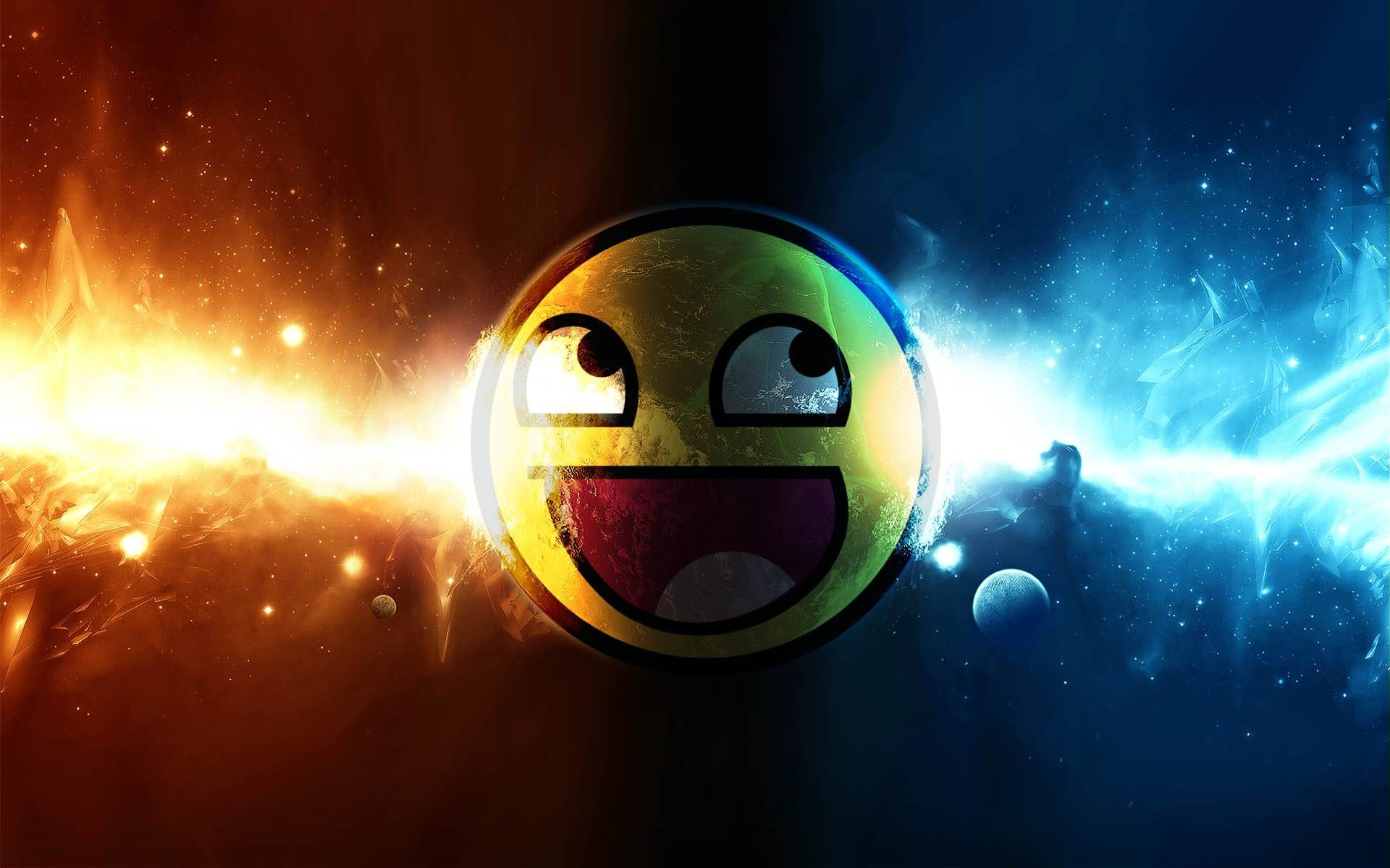 Wallpaper 1 of 1 – Awesome Cool 3D Smiley Background Free Wallpapers .