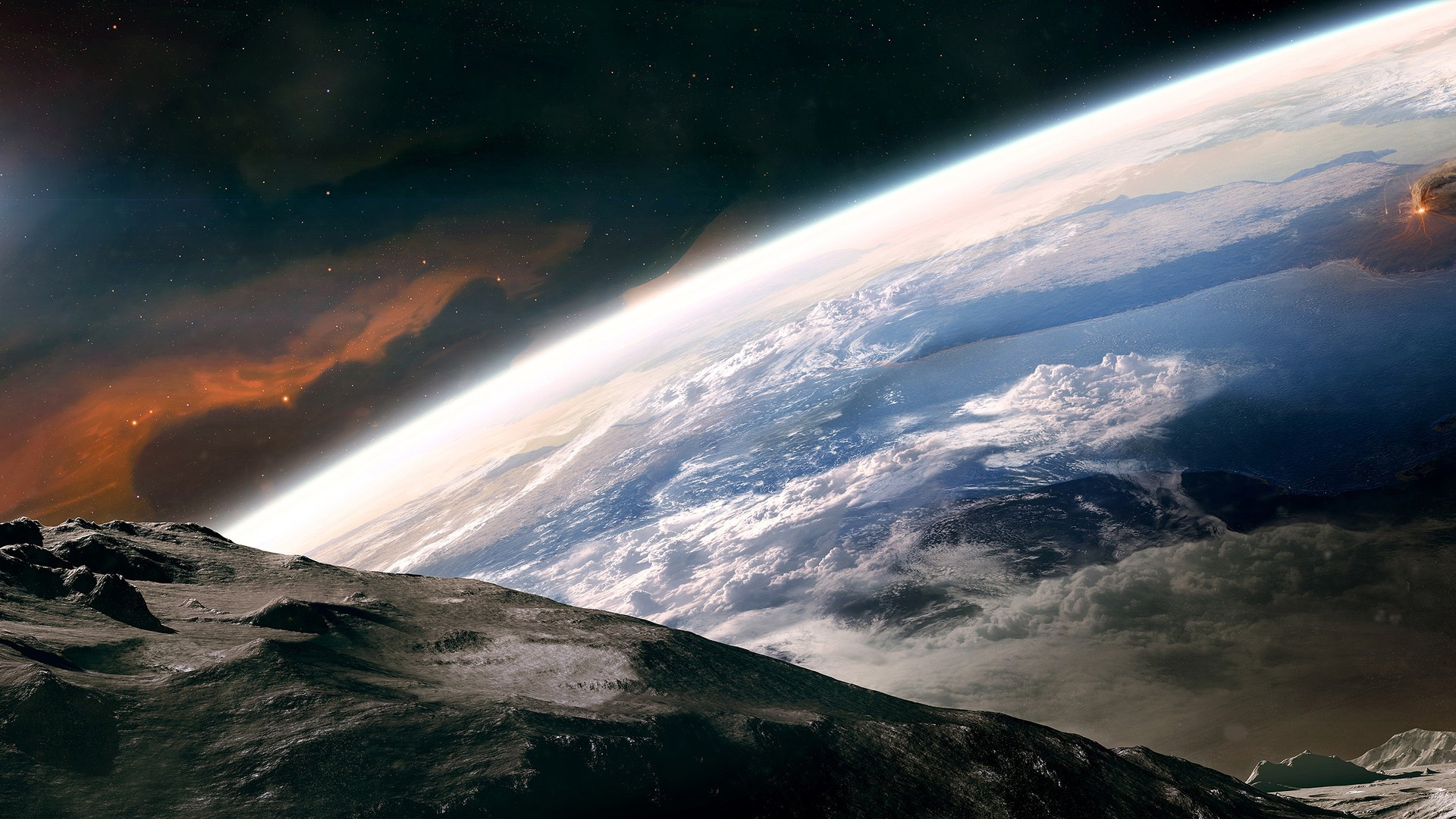 3D Digital Art Space Scene HD Wallpapers and Backgrounds