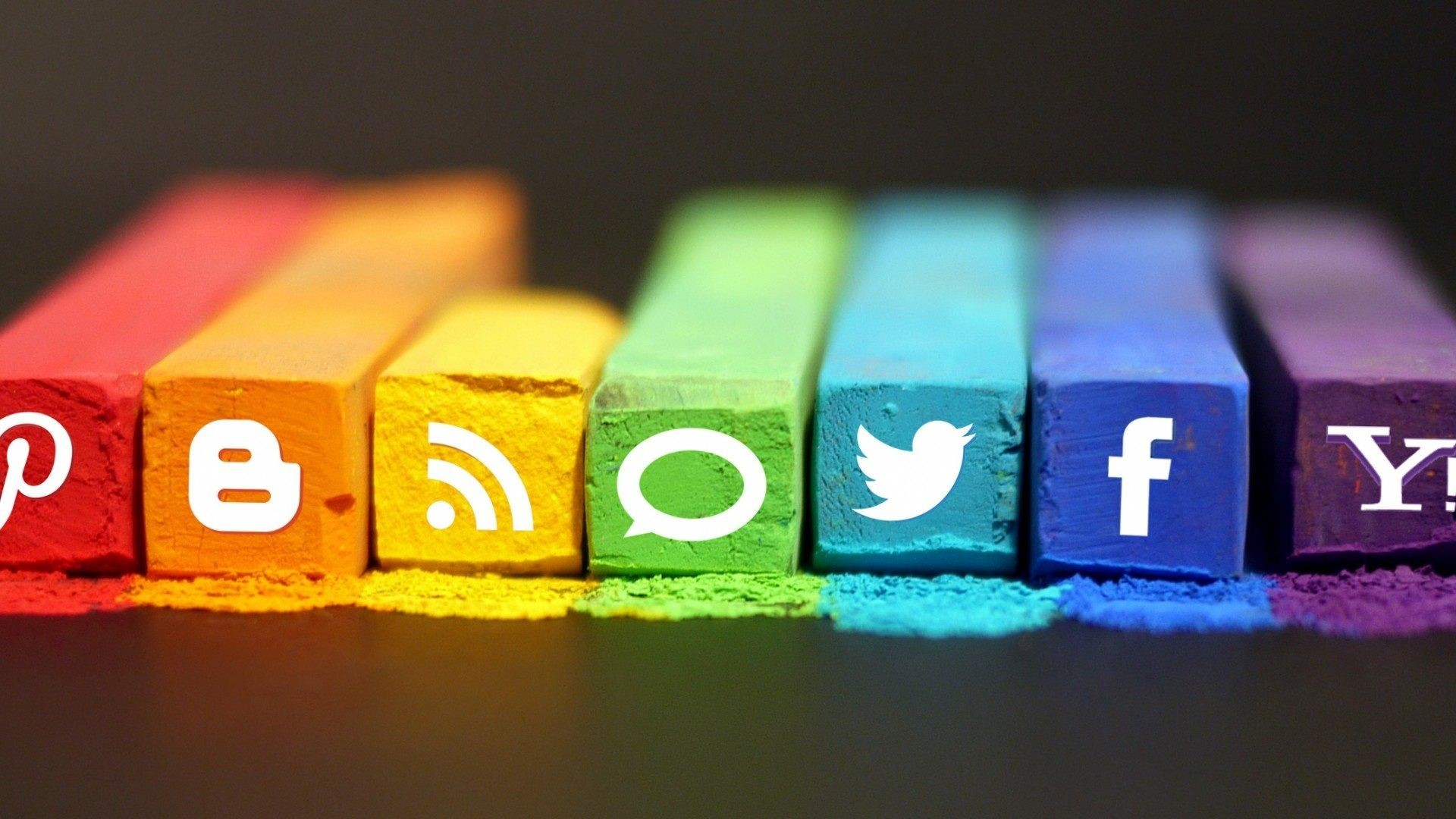 Social Media Icons Logo Wallpaper