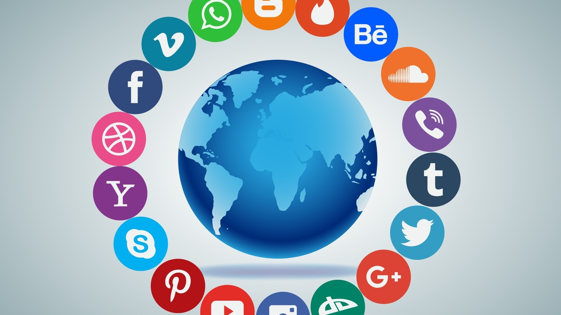 Preview wallpaper social networking, media, logos 1920×1080