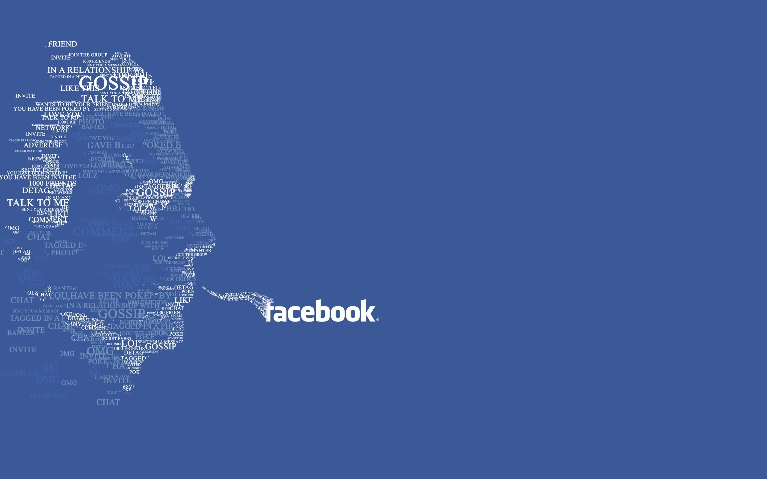 Typography Facebook HD Wallpaper