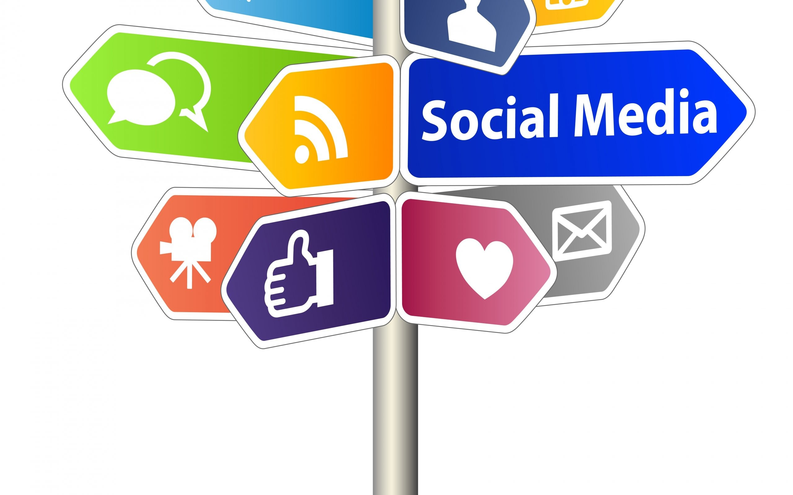 social-media-direction-board-icons-internet-wallpapers-hd