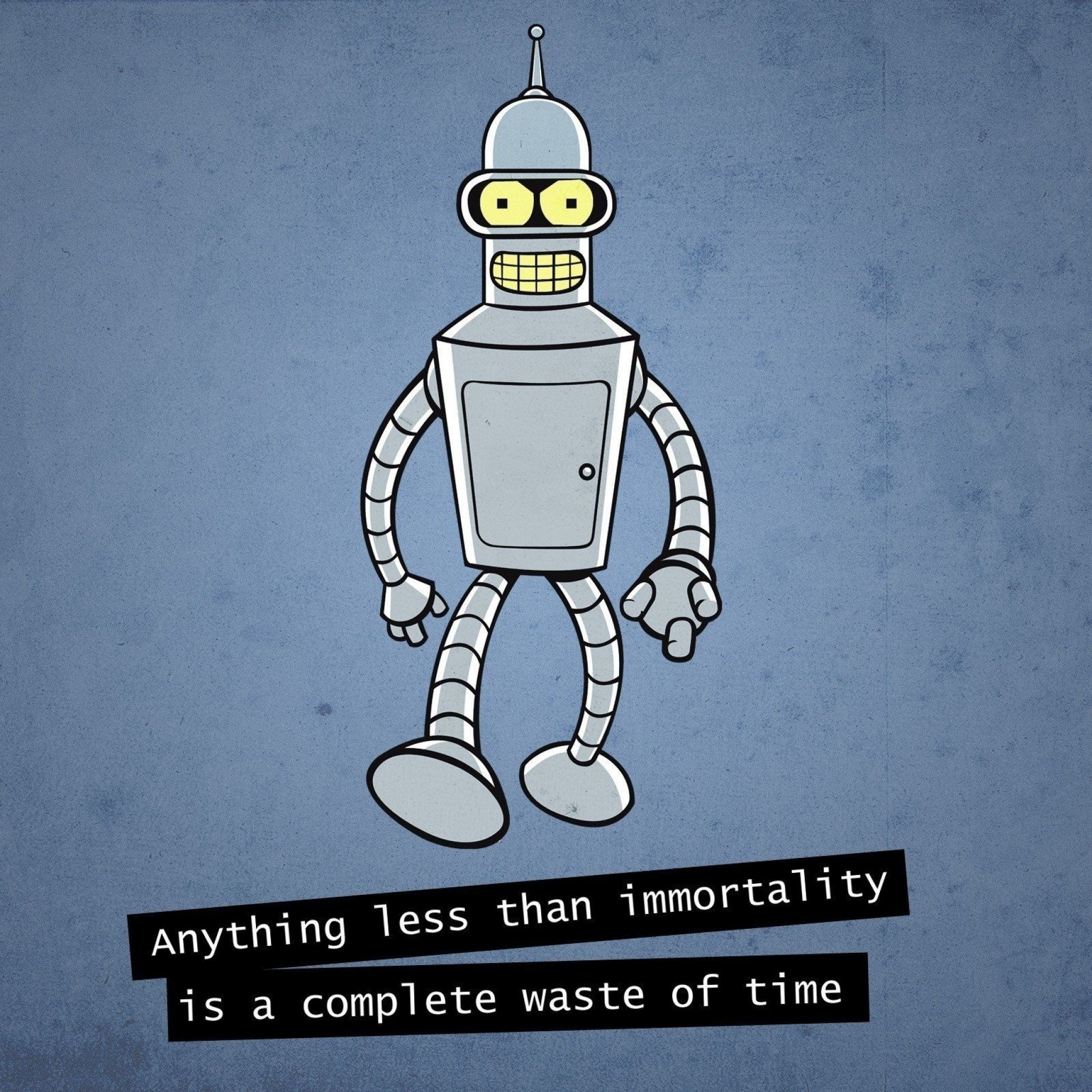 Bender Importance Of Time iPad Wallpaper HD #iPad #wallpaper