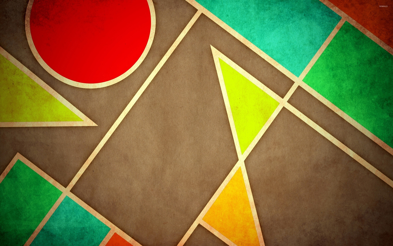 Pastel geometric shapes wallpaper