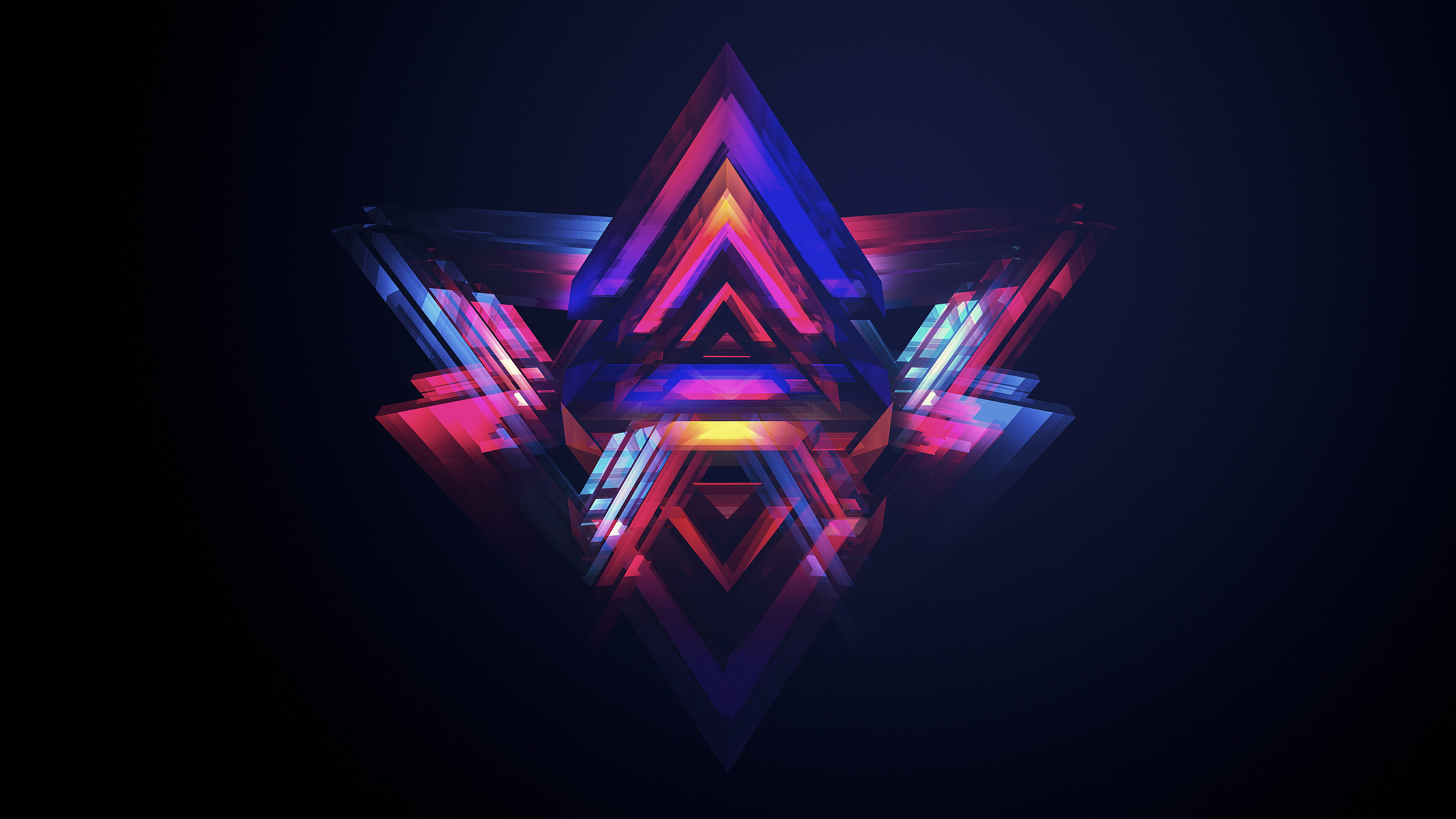 Abstract Cool 3D Colorful Shape Free Wallpaper HD.jpeg (2560×1440)   Game  Color / Line Design   Pinterest   Wallpaper, 3d and Low poly