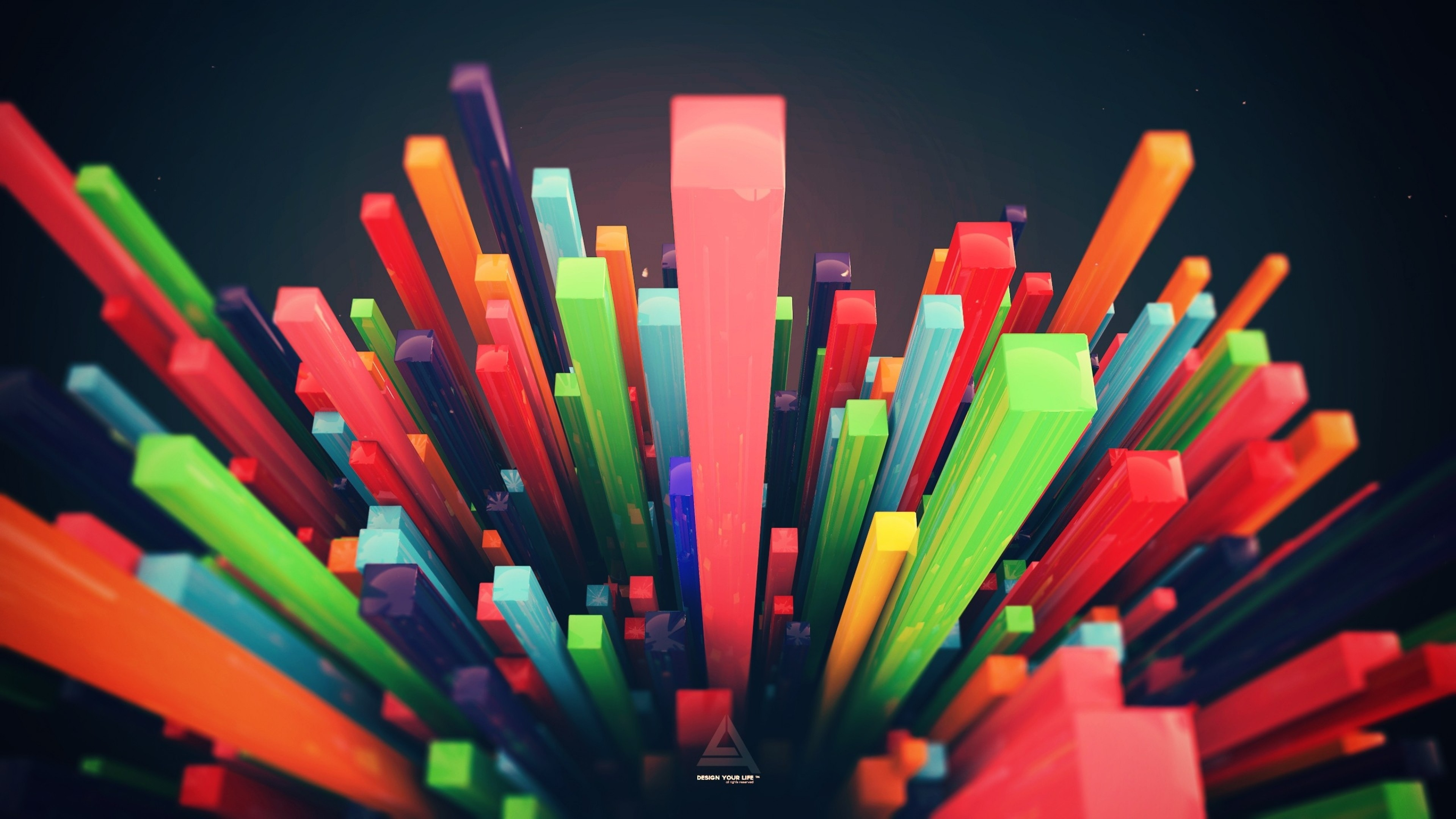 Wallpaper shapes, colorful, diving, shape