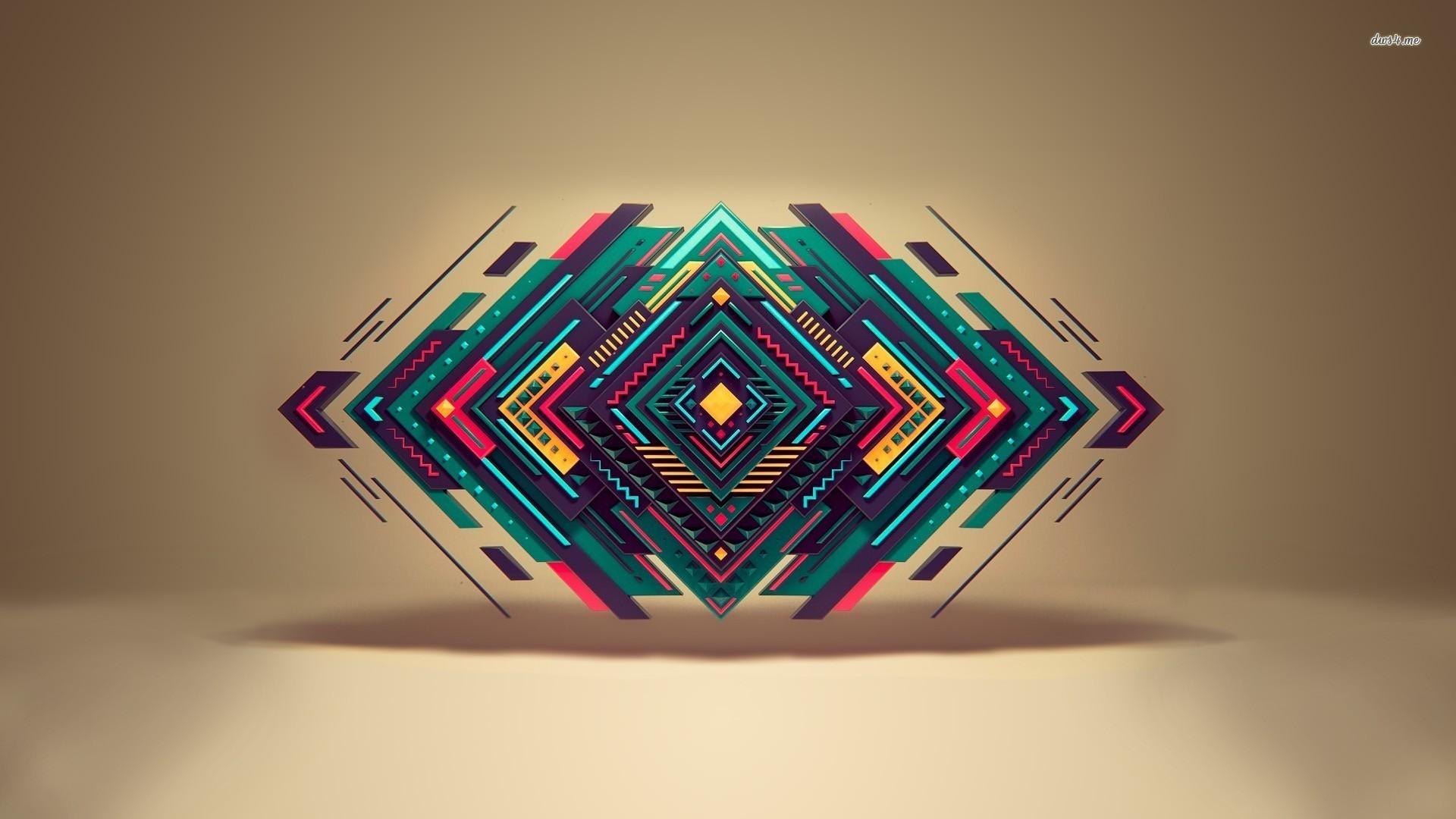 3D Shapes Wallpaper-7