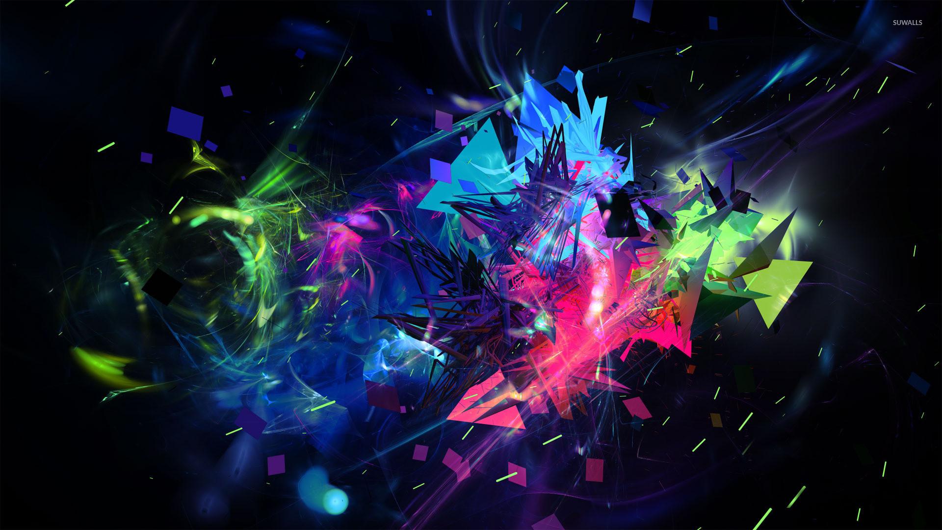 Multicolored shapes wallpaper jpg