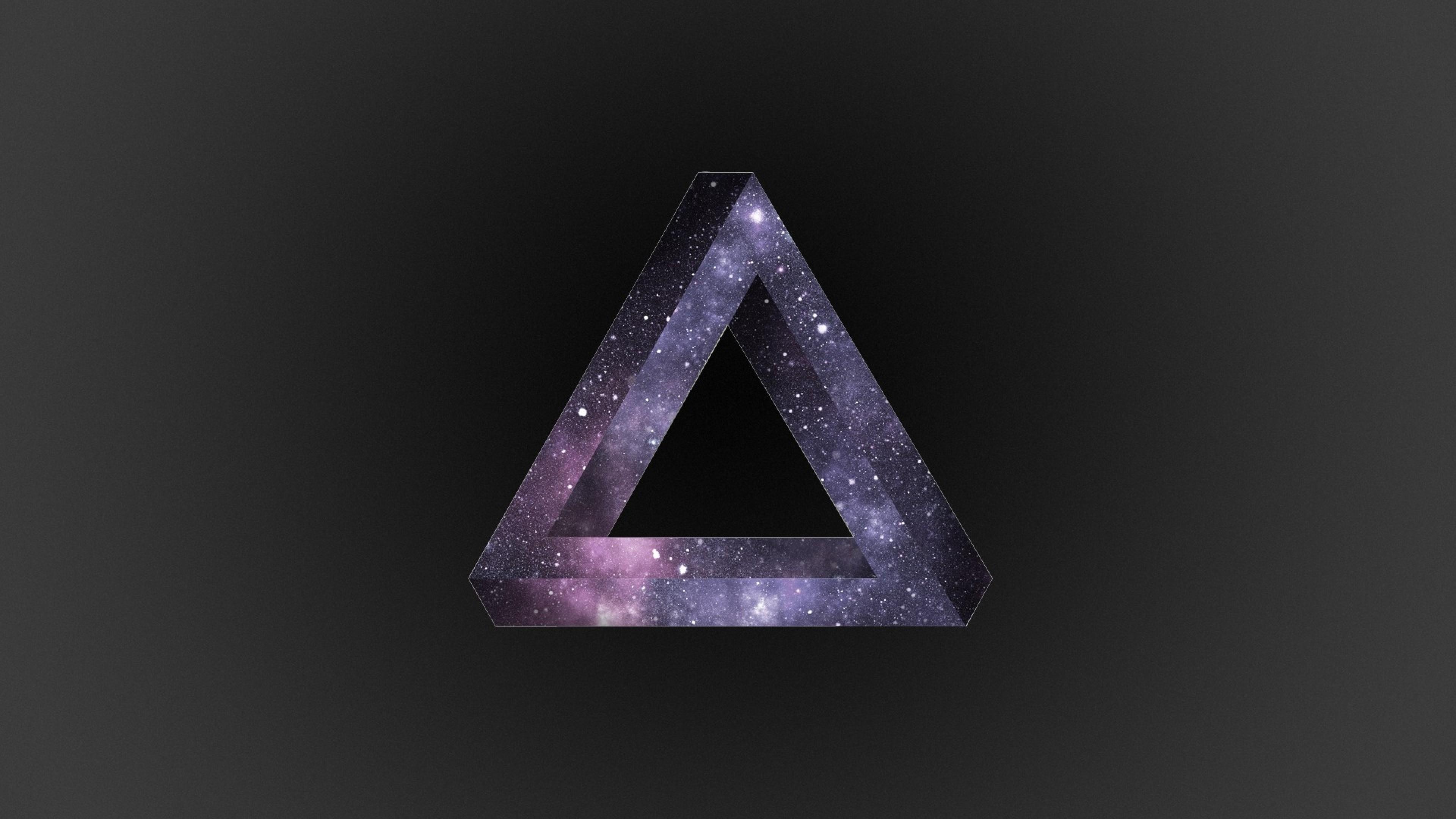 Wallpaper triangle, dark, background, light, line, shape