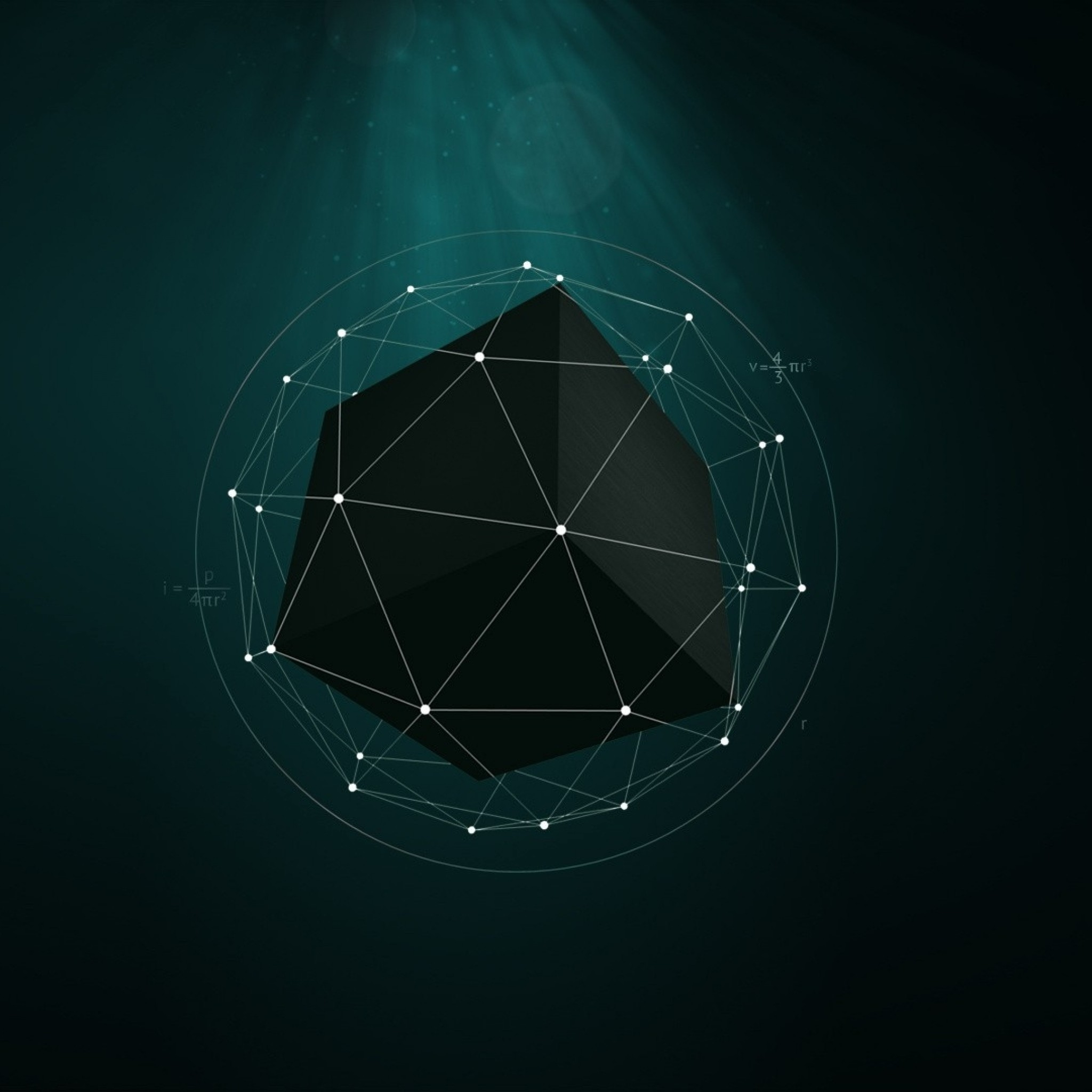 Preview wallpaper shape, point, cube, geometric 2048×2048