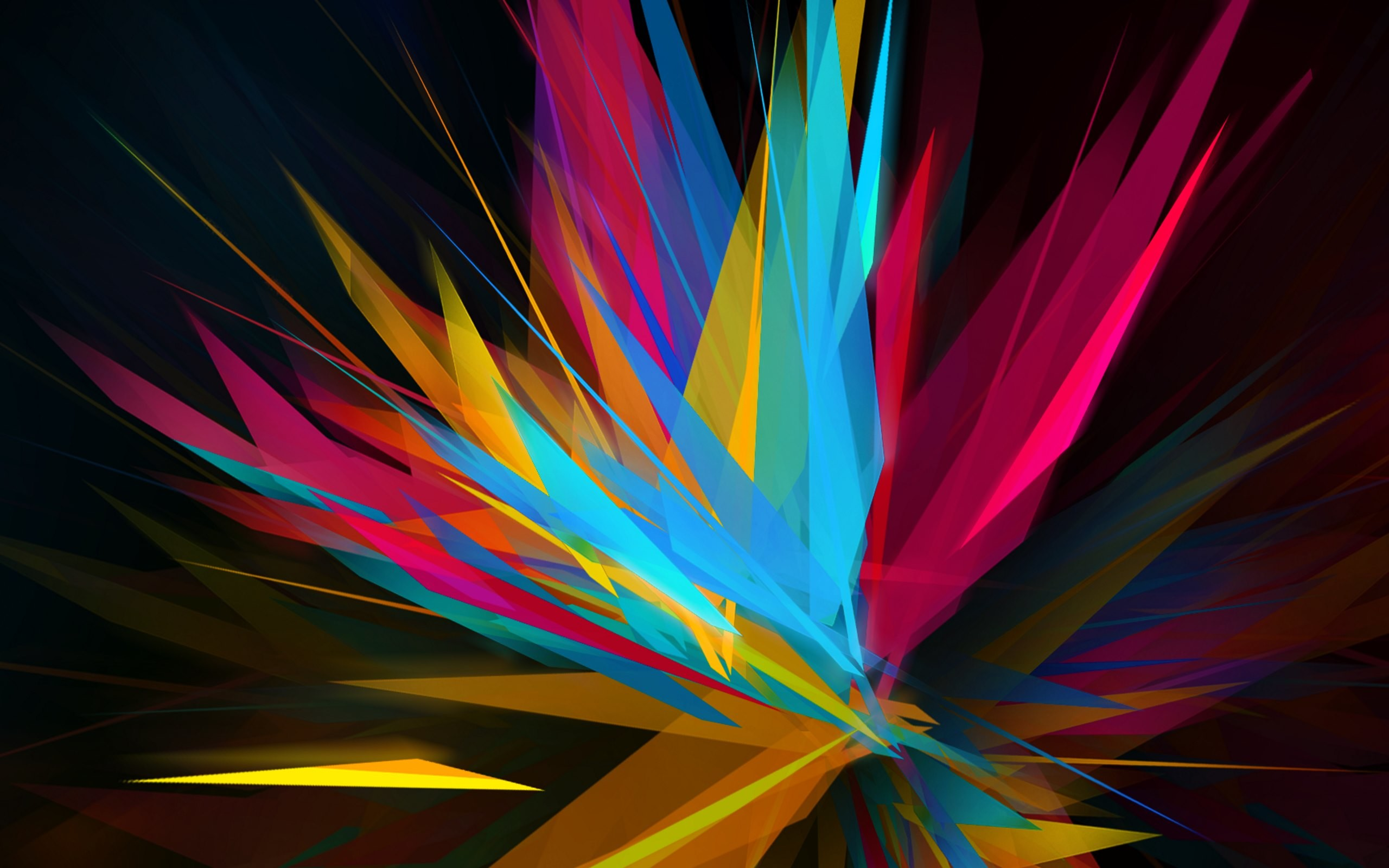 Abstract Sharp Shapes Wallpaper · HD Wallpapers