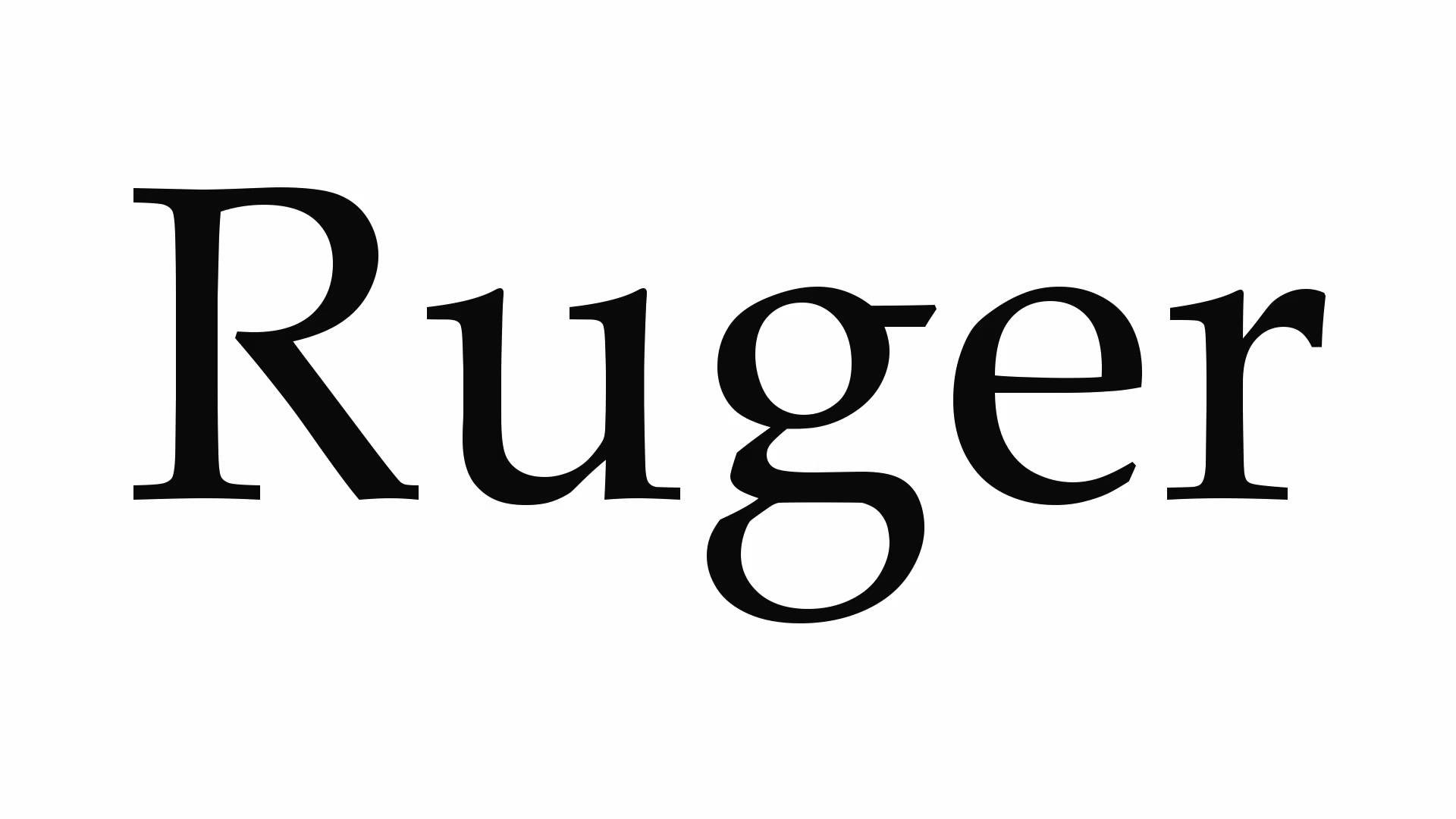 How to Pronounce Ruger