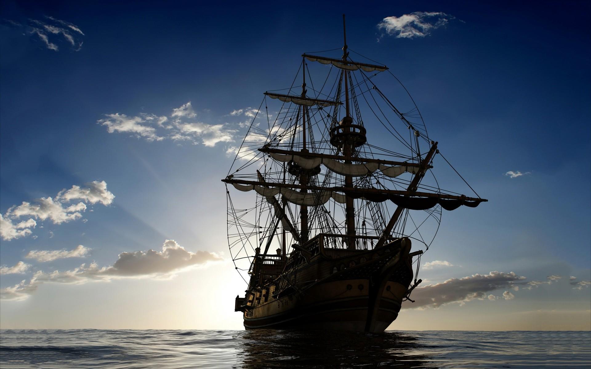 Sailing ship ocean Wallpaper in