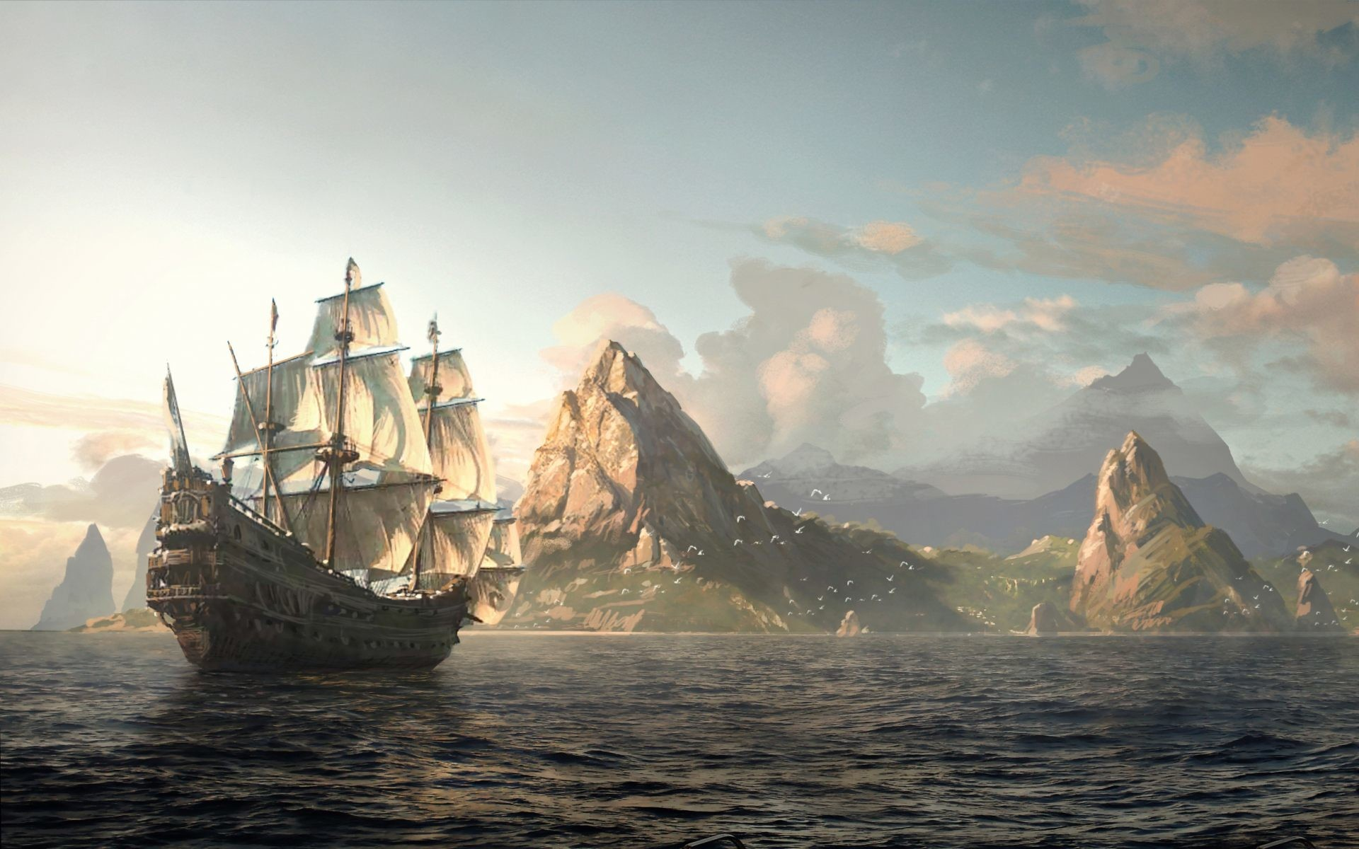 Old Pirate Ships Old Sailing Ships Pirate Wallpapers Windows 1920×1080  Pirate Ships Wallpapers (