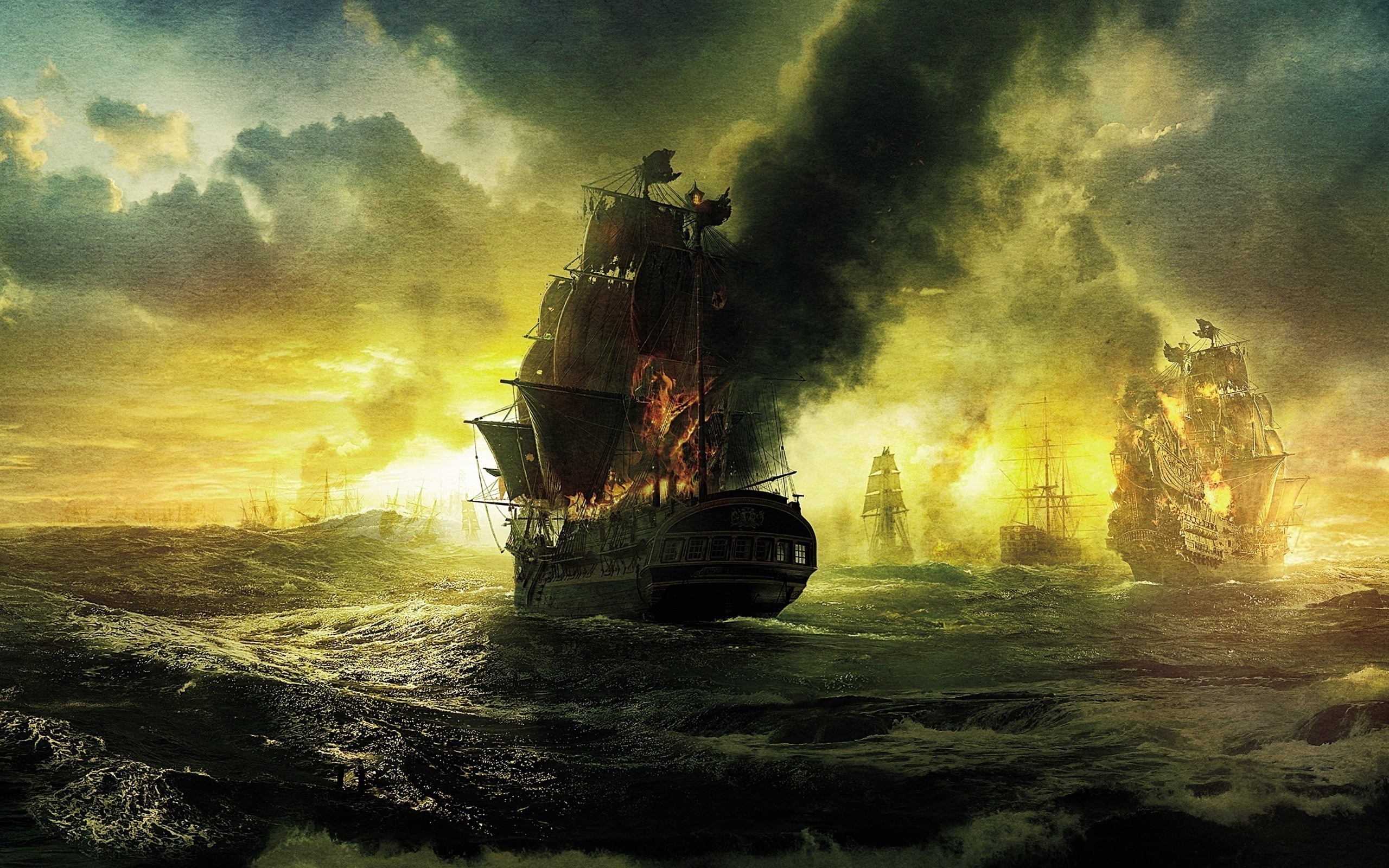 old ship, Sea, Sailing ship Wallpaper HD