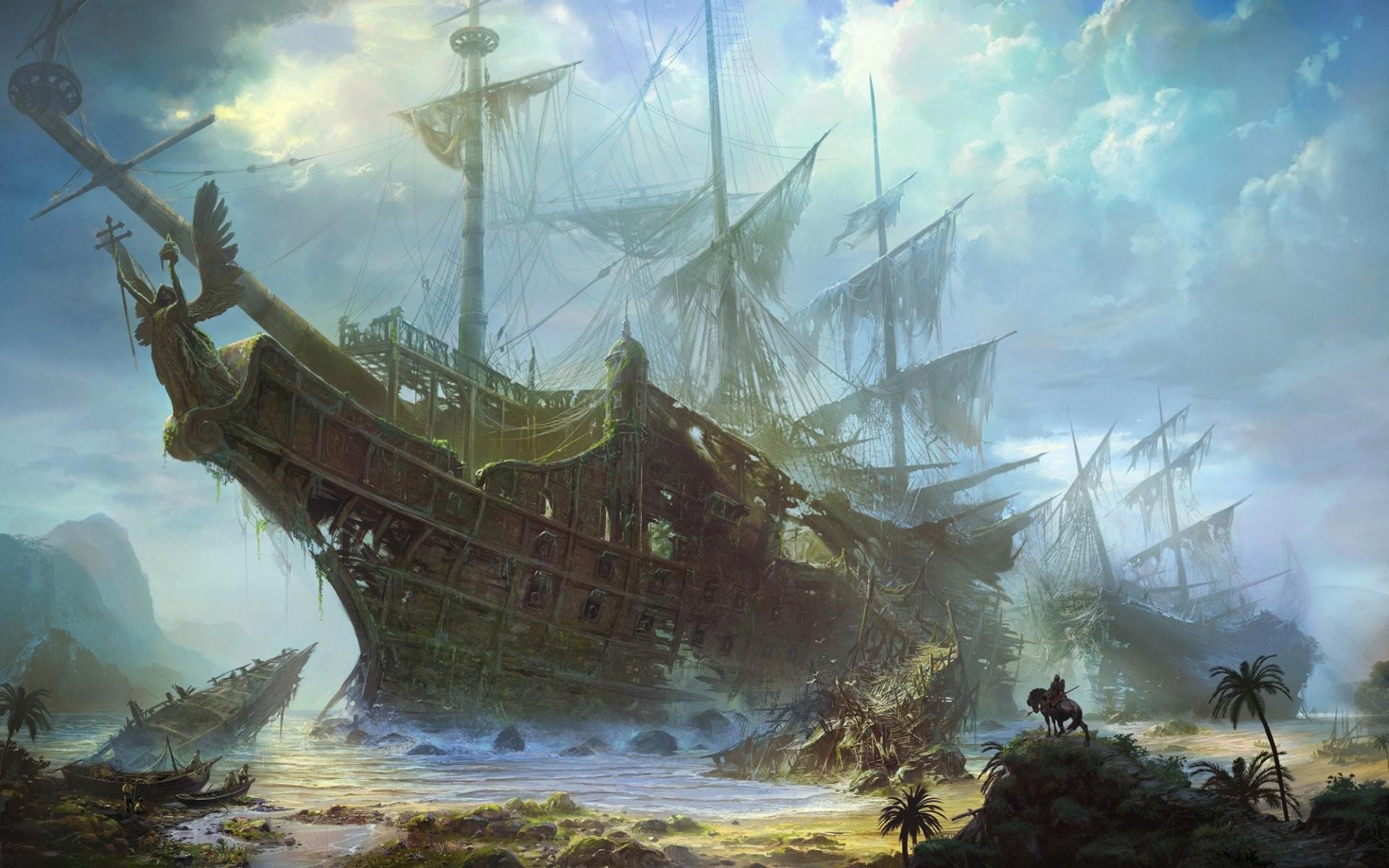 Wallpaper ghost ship
