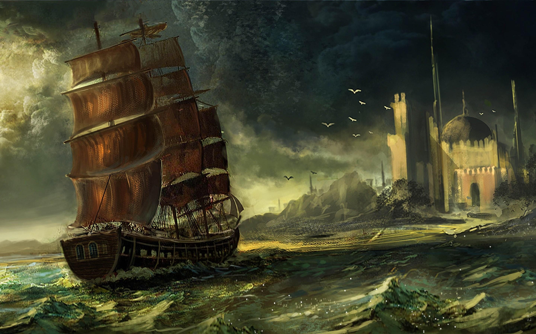 City art sailing ship waqas mallick sea dome wallpaper | |  1005900 | WallpaperUP