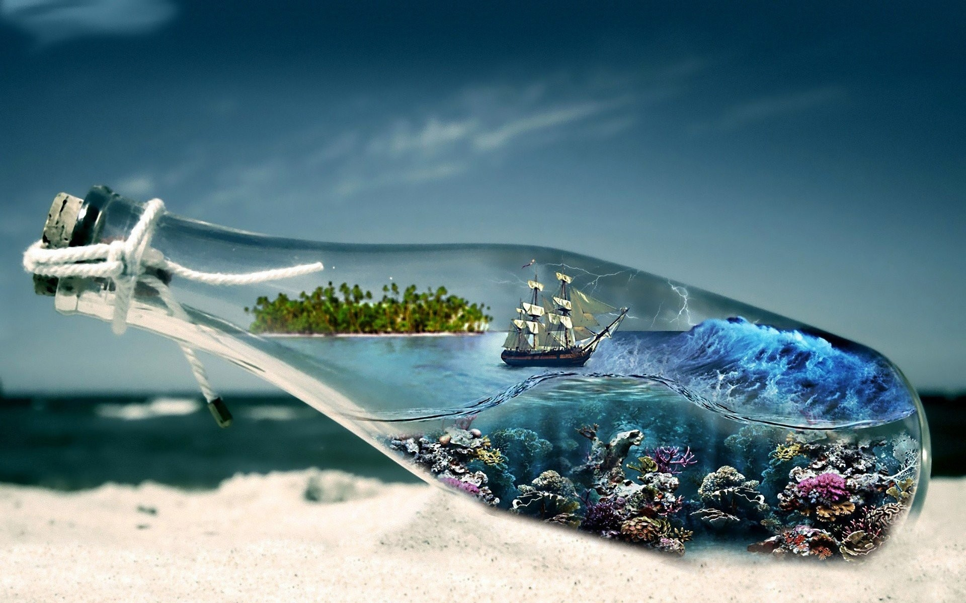 Abstract Sea Sailing Ships