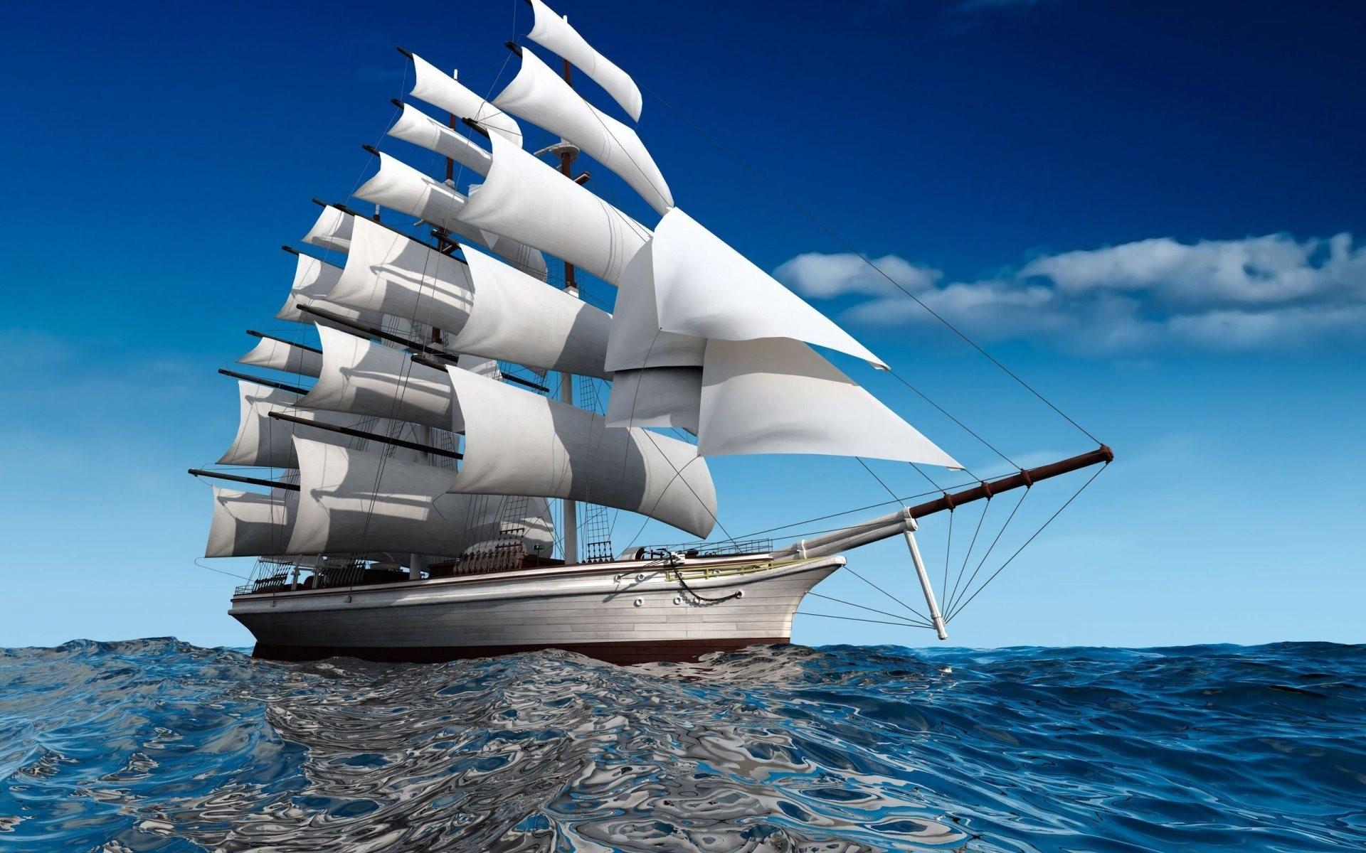 Big Sailing Ship | Full HD Desktop Wallpapers 1080p
