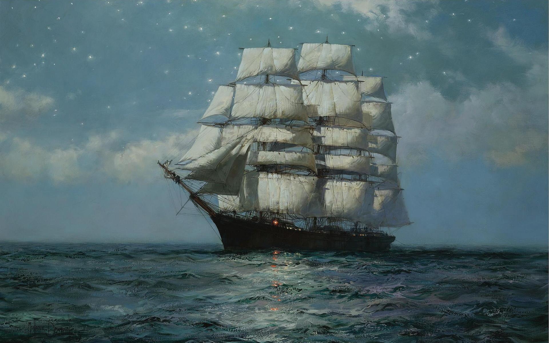 Clipper Ship Wallpaper