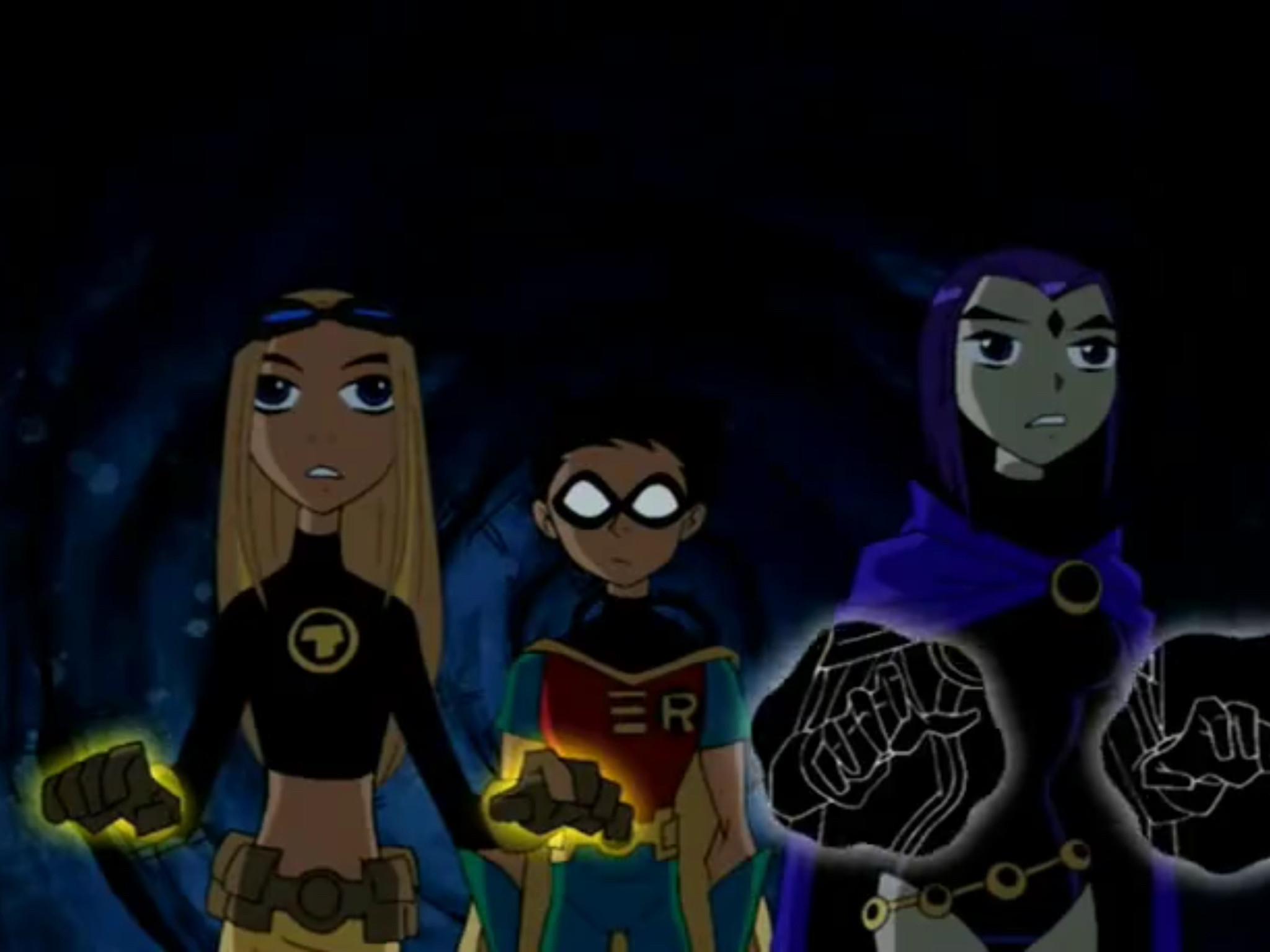 Teen Titans Raven, Terra and Robin