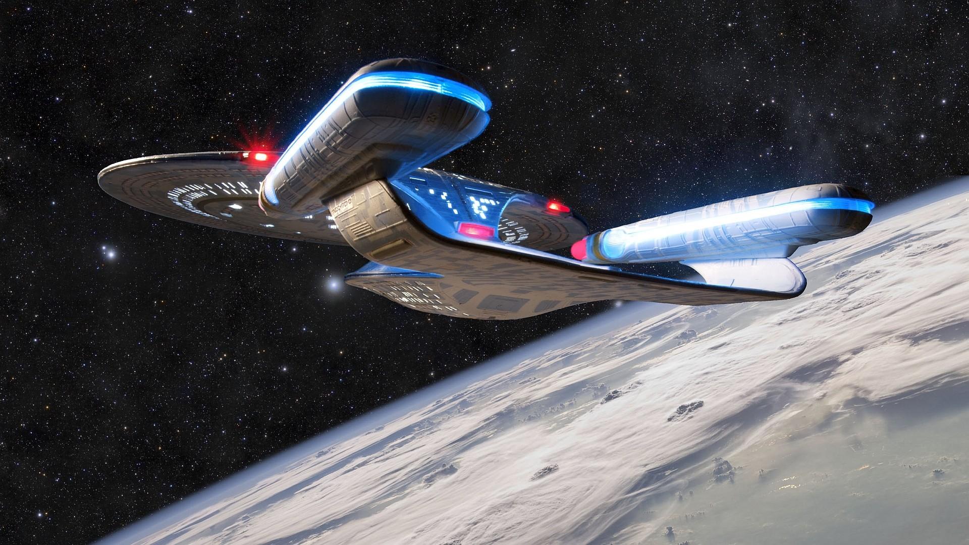 USS Enterprise [1920×1080] (xpost from /r/OtakuVisualArts) …