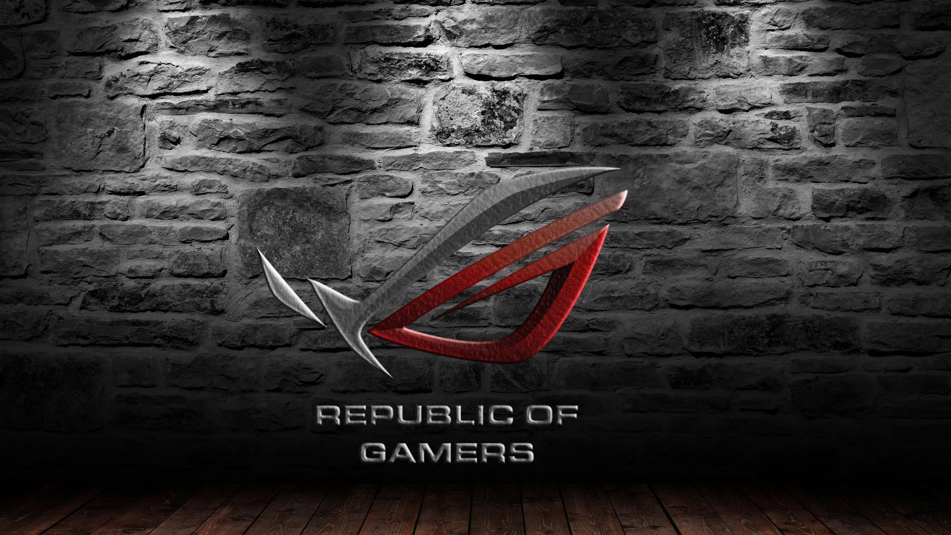 asus rog (republic of gamers) logo hd. 1080p wallpaper and .