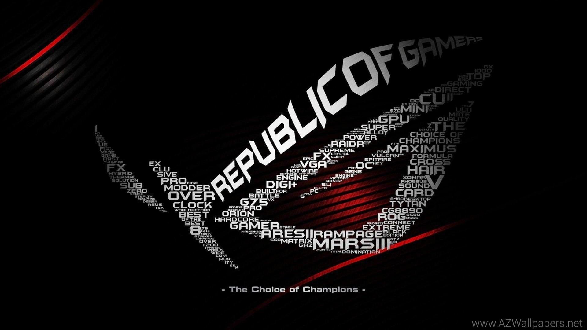 … asus computer rog gamer republic gaming wallpapers desktop background  …