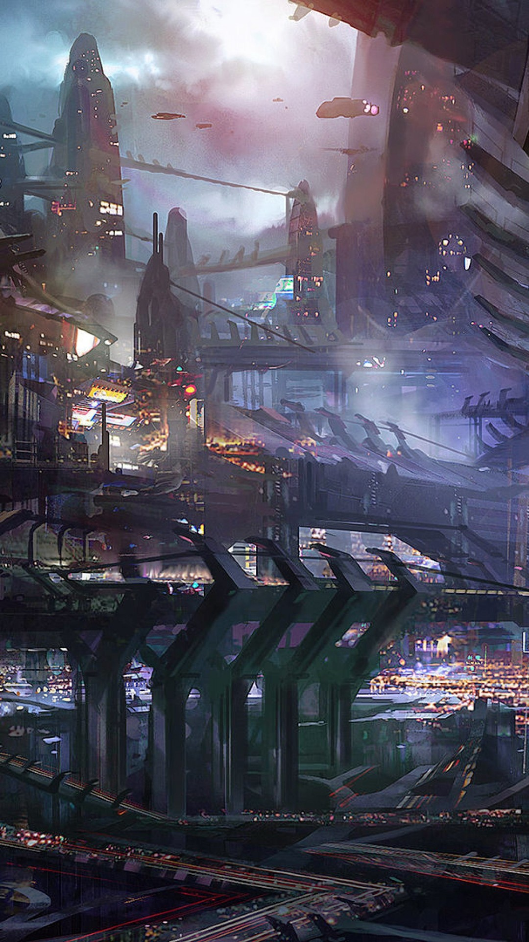 Sci Fi City HD Android Wallpaper …