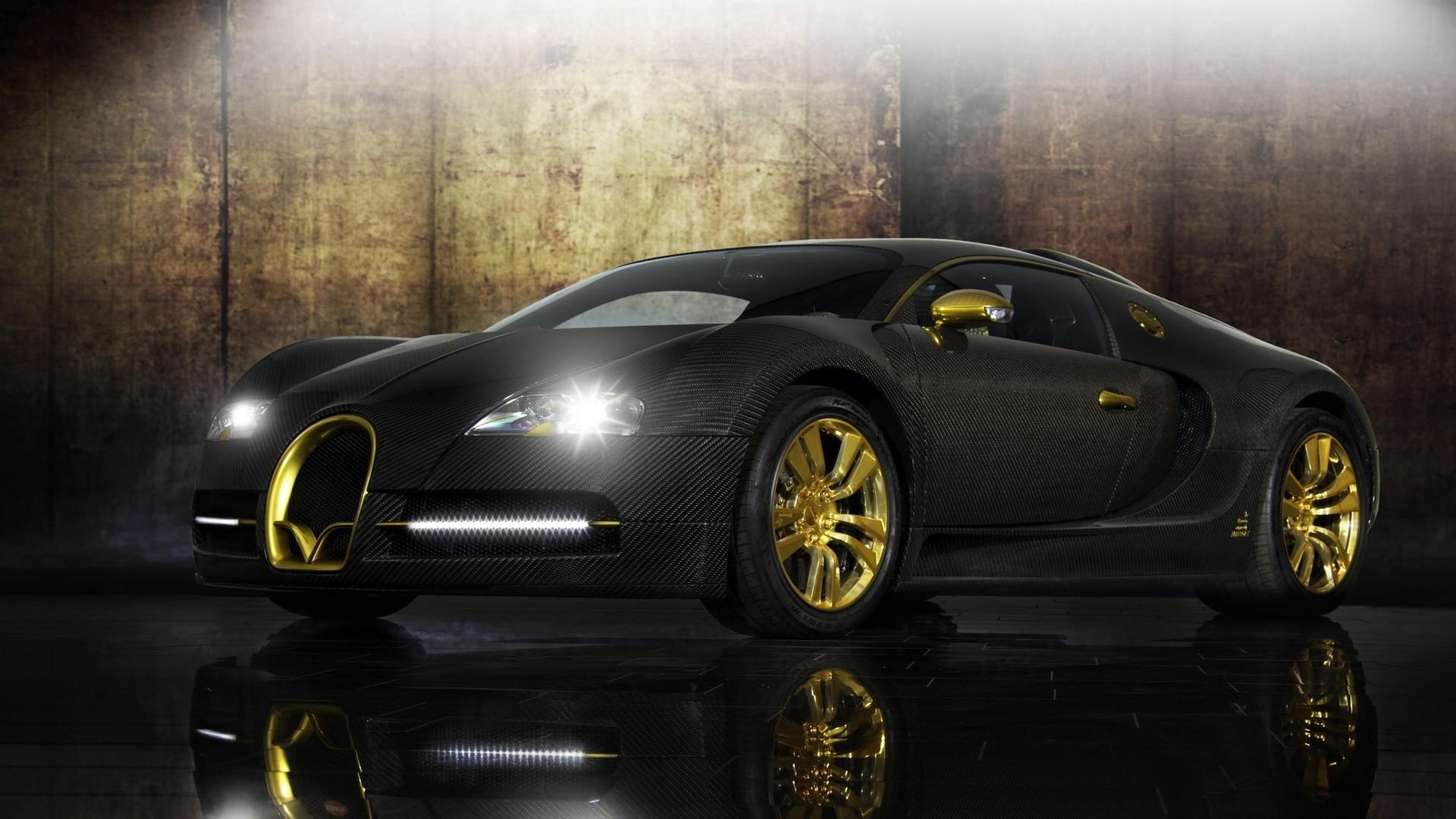 Bugatti Veyron black supercar 4k Ultra HD Wallpaper