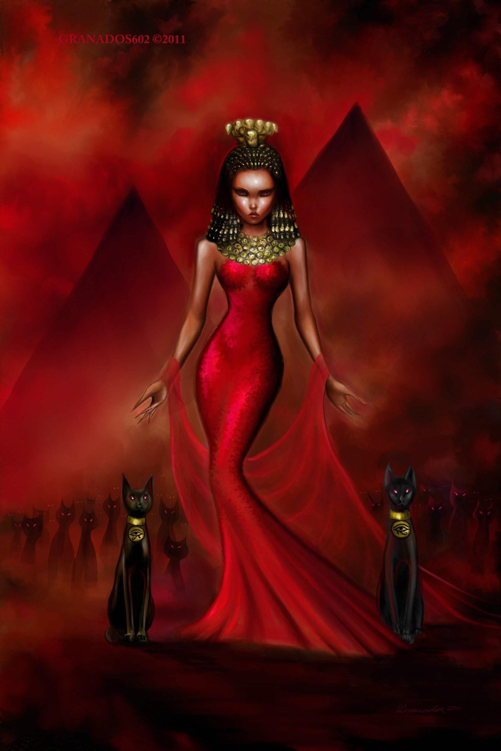 Bastet The Egyptian Cat Goddess by granados602.deviantart.com on @deviantART