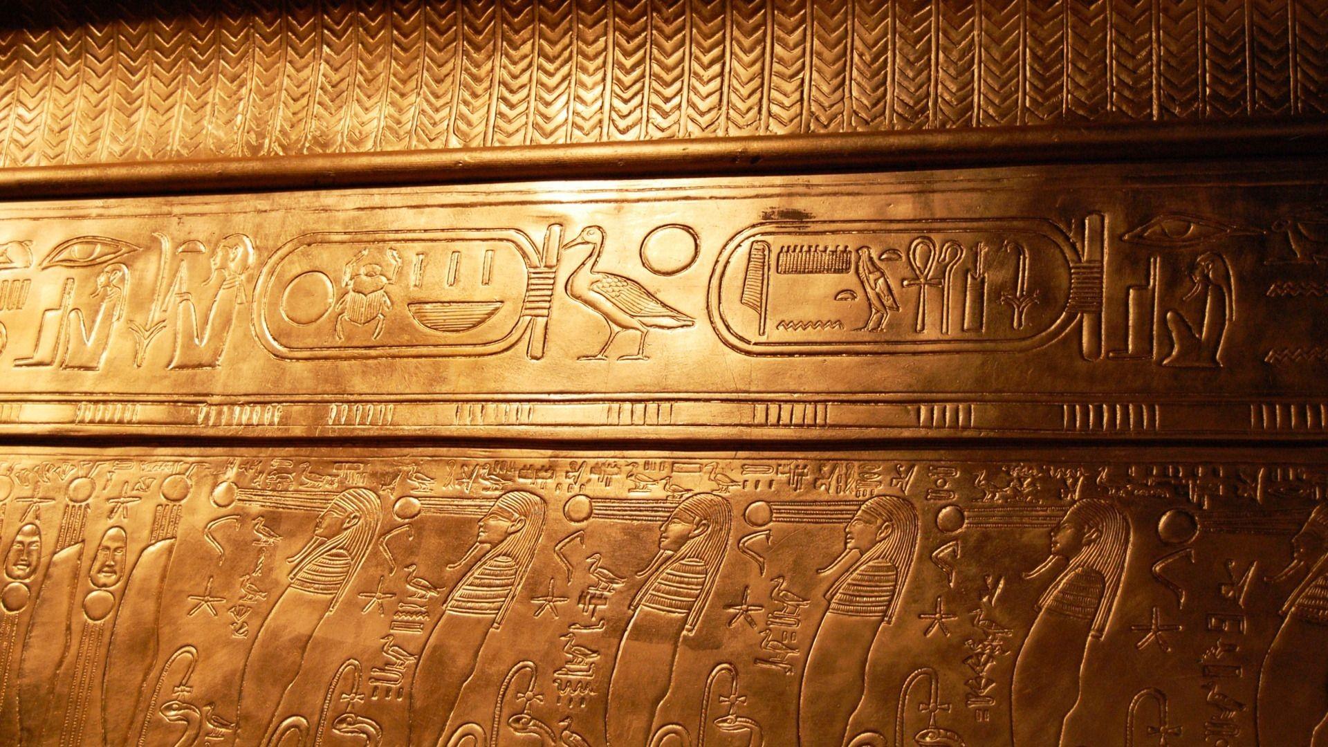 Egyptian Hieroglyphics Wallpaper.