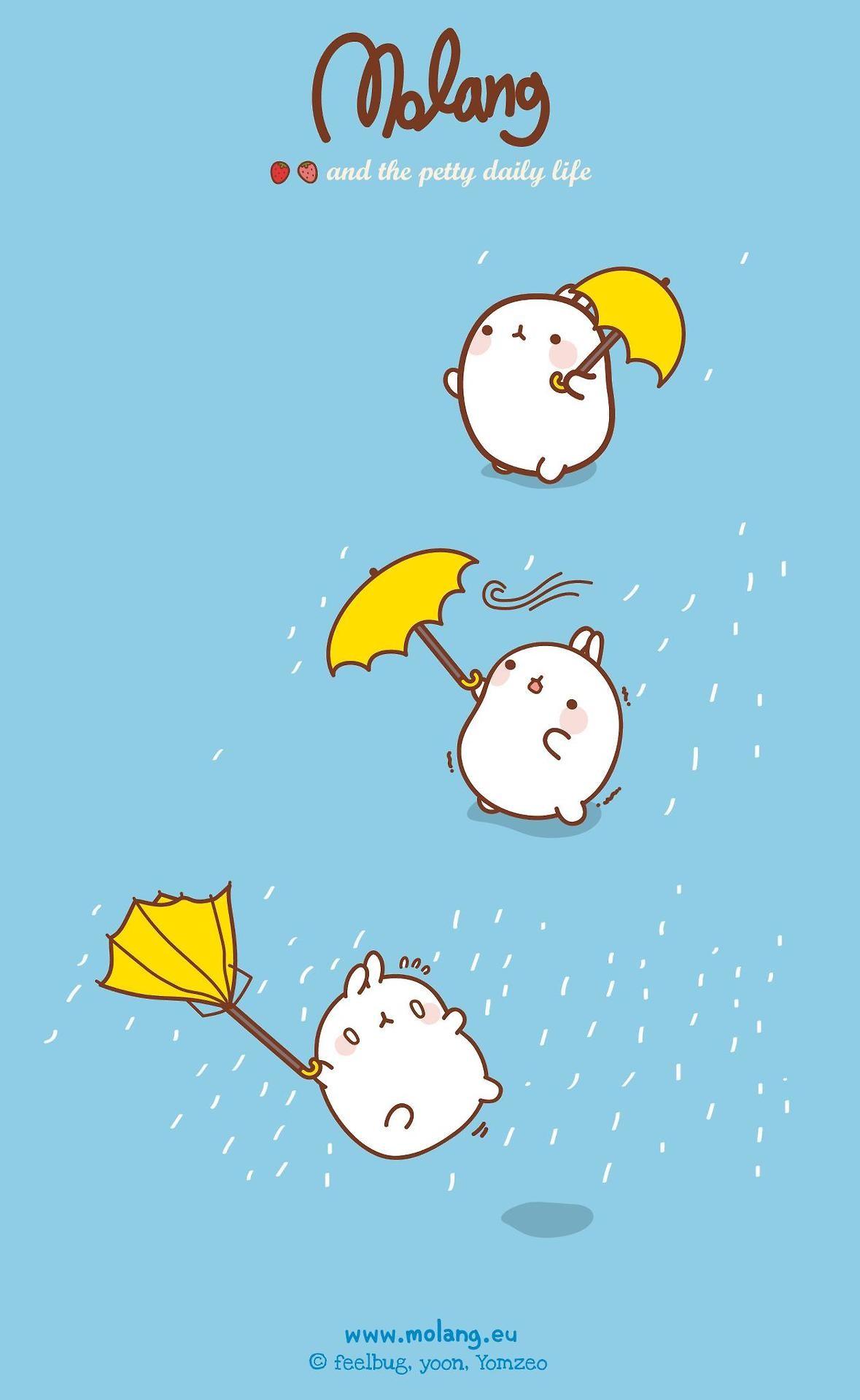 a mi la lluvia… #molang