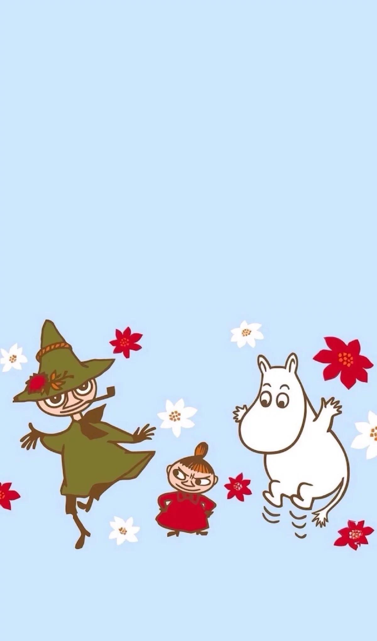 Moomin Valley, Kawaii Wallpaper, Wallpaper Backgrounds, Iphone Wallpaper,  Cartoon Characters, Book Illustrations, Tove Jansson