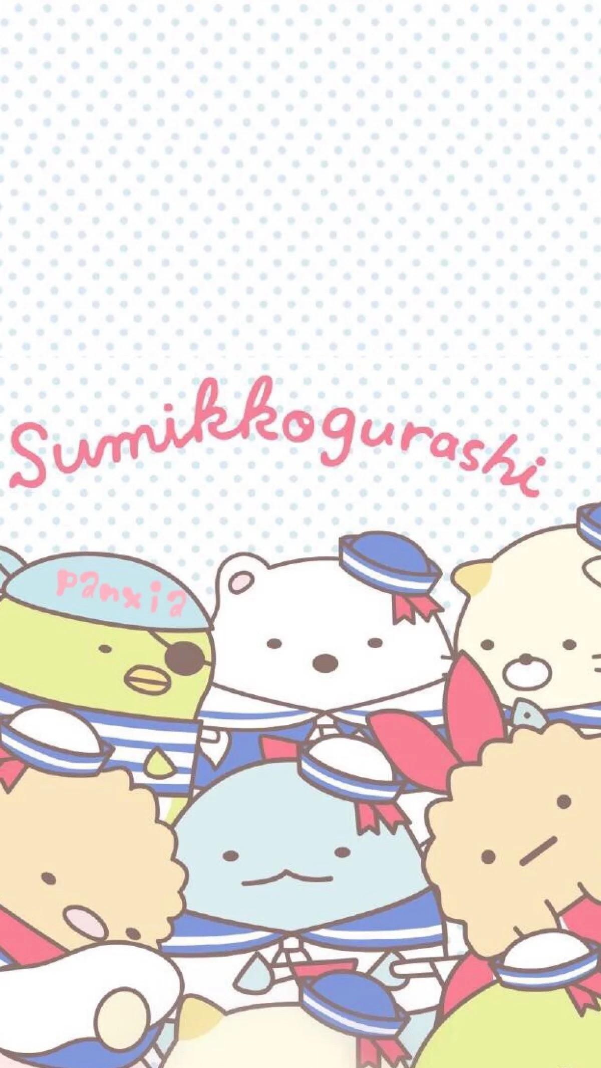 Sumikko gurashi sailors phone wallpaper