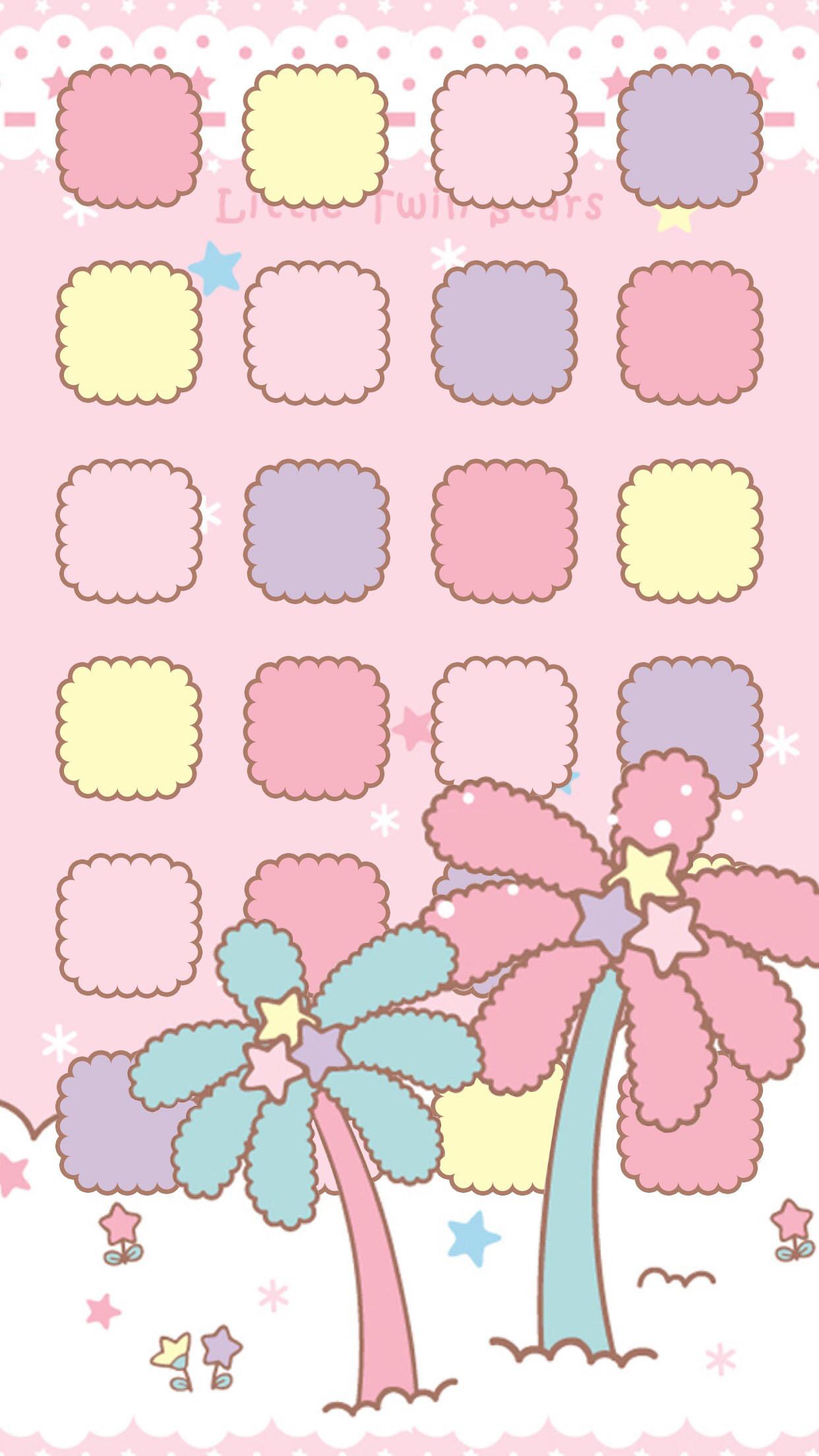 Kawaii wallpaper · Twin Stars