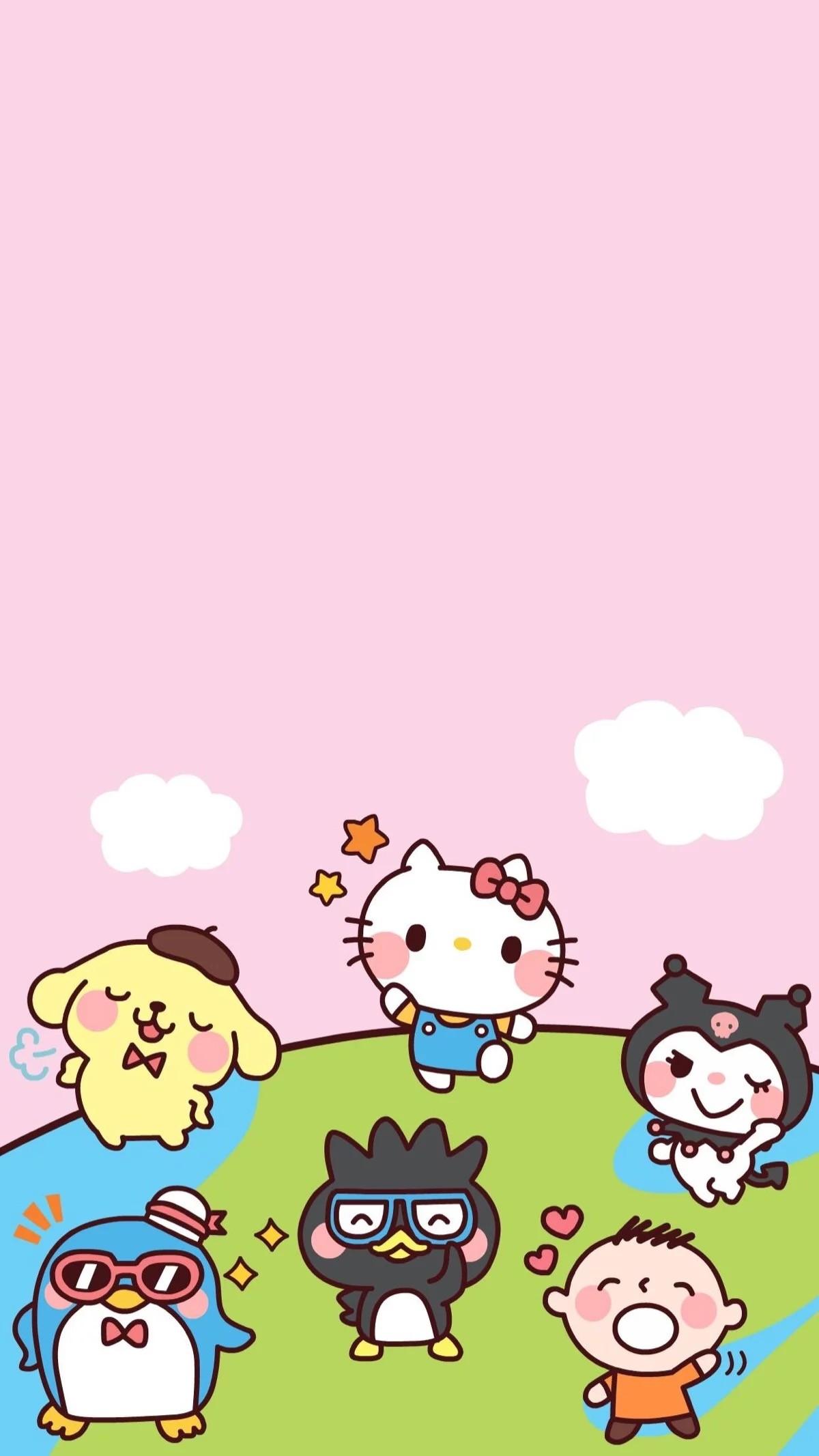 Sanrio Wallpaper, Iphone Wallpaper, Hello Kitty, Twins, Printing, Sticker,  Stationery, Kawaii, Screen